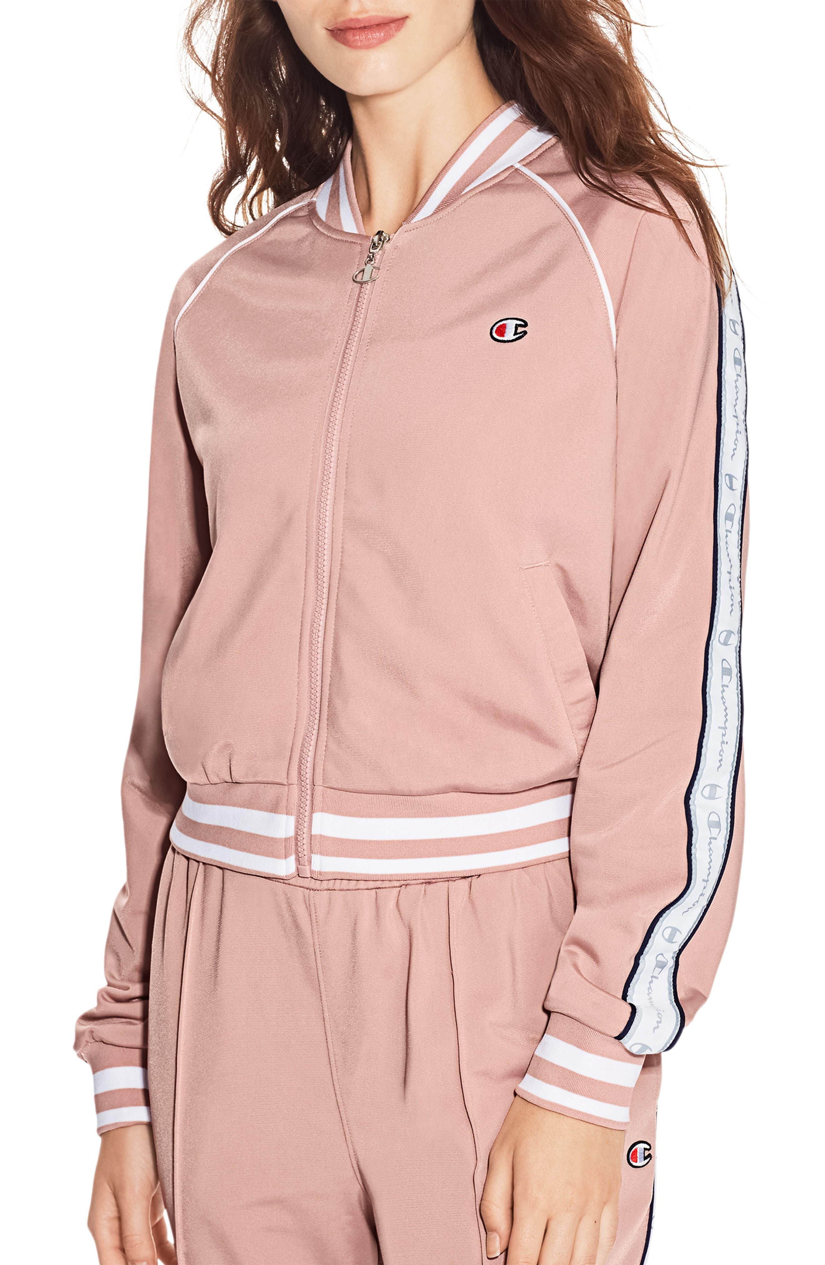 Track Jacket,                             Main thumbnail 1, color,                             Dream Pink