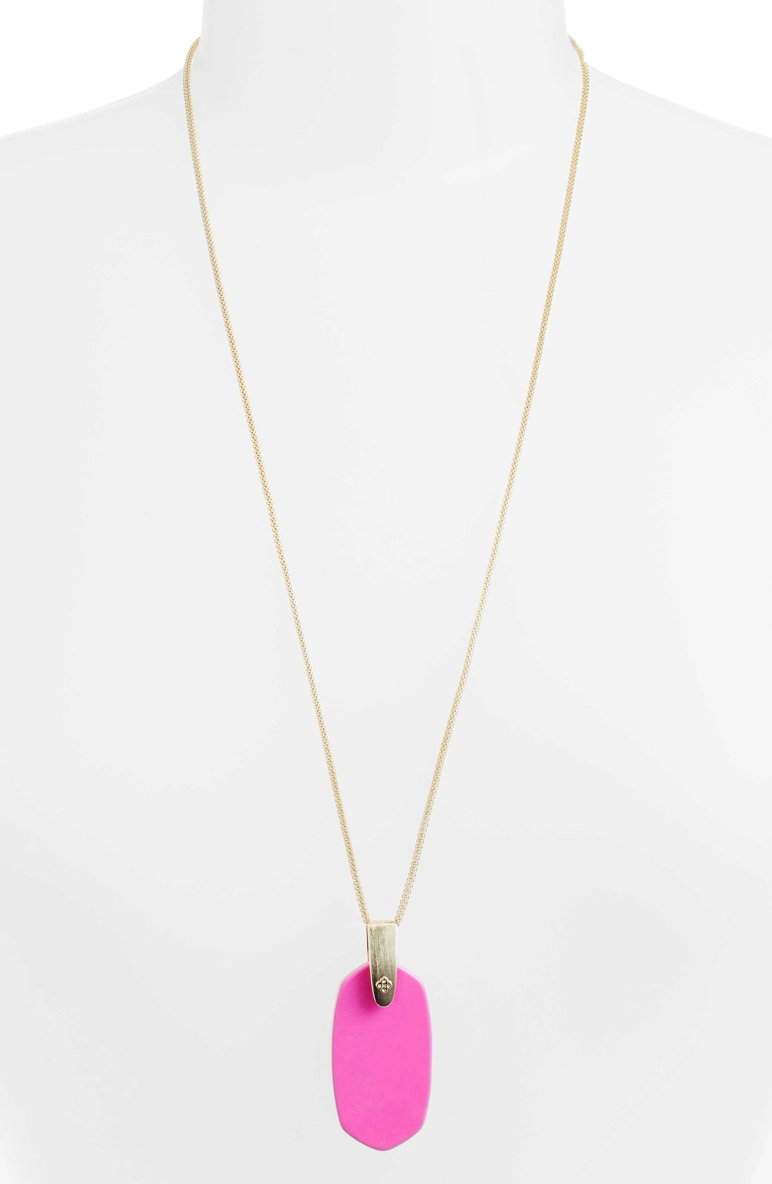 Inez Pendant Necklace,                         Main,                         color, Magenta/ Gold
