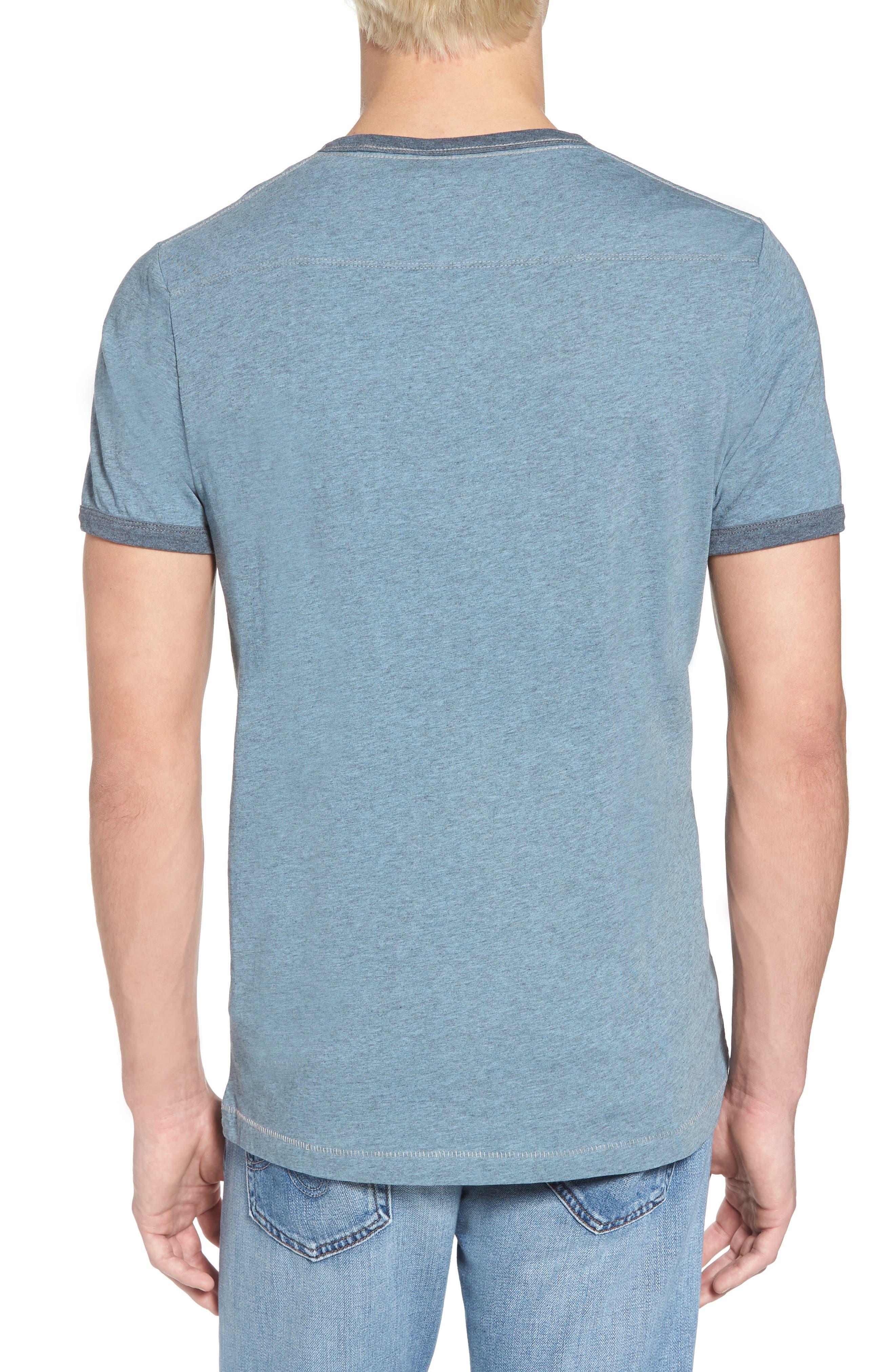 Bens Slim Fit Ringer T-Shirt,                             Alternate thumbnail 2, color,                             Overdyed Ashley Blue