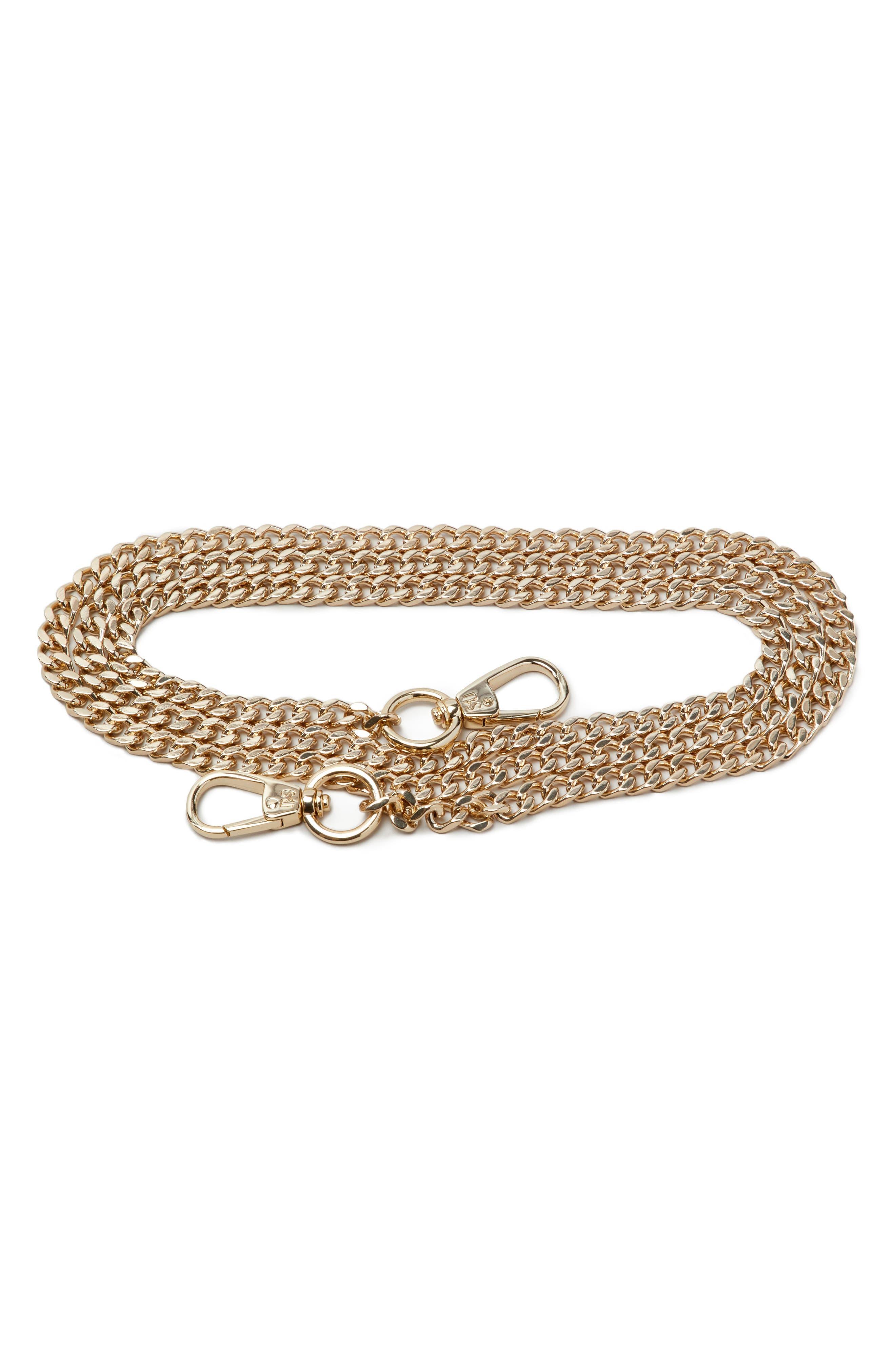 Chain Shoulder Strap,                         Main,                         color, Gold