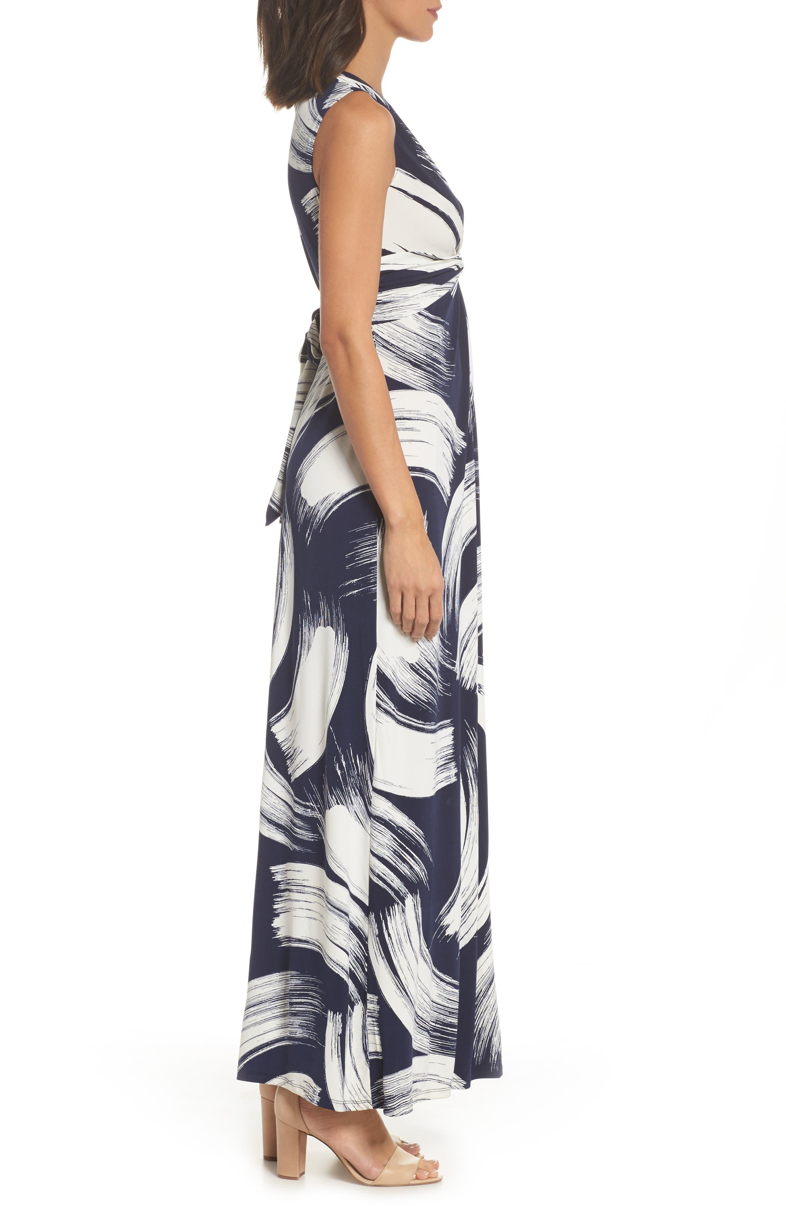 Alternate Image 3  - Eliza J Brush Print Jersey Maxi Dress