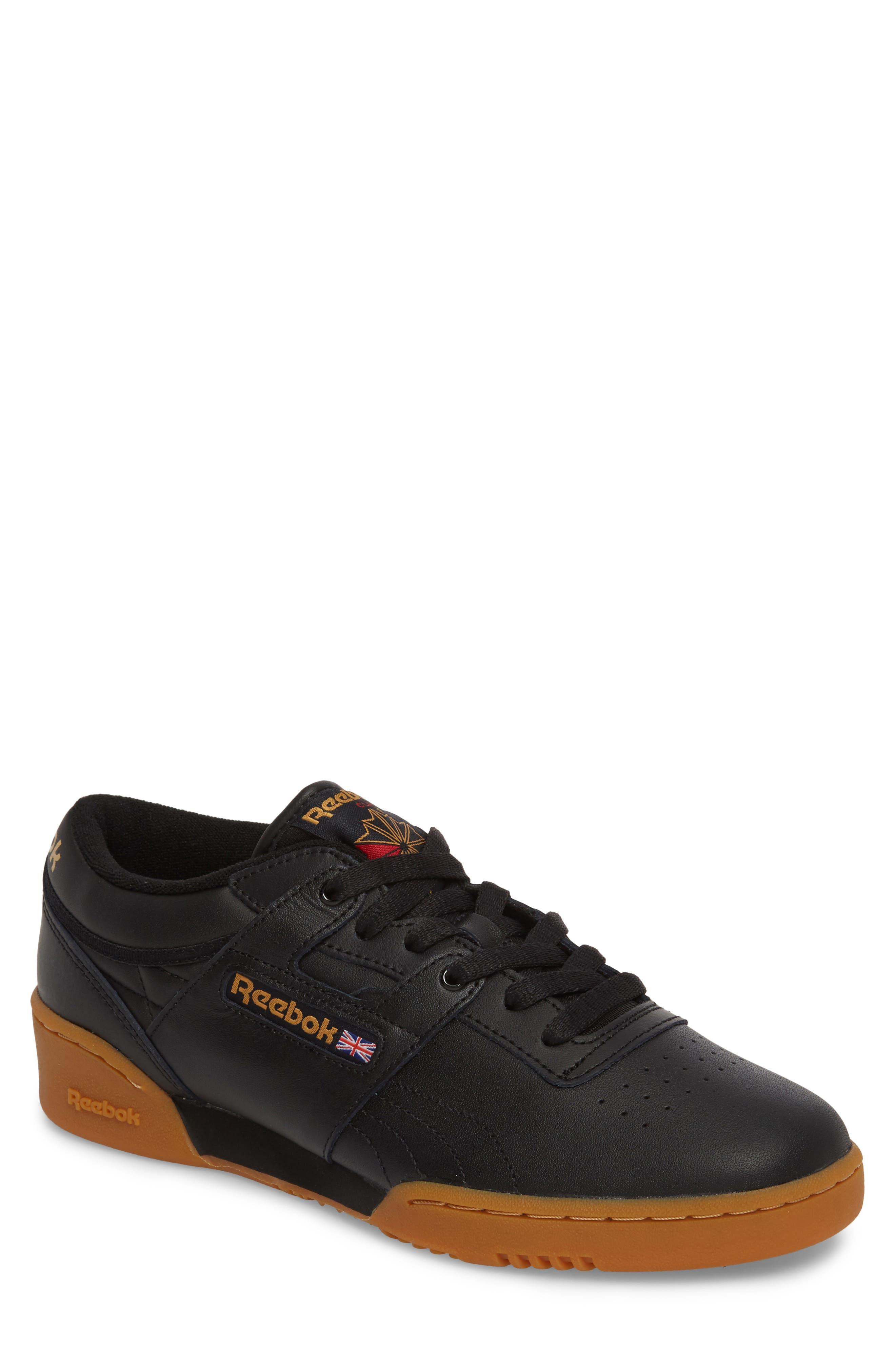 Workout Low Top Sneaker,                         Main,                         color, Black