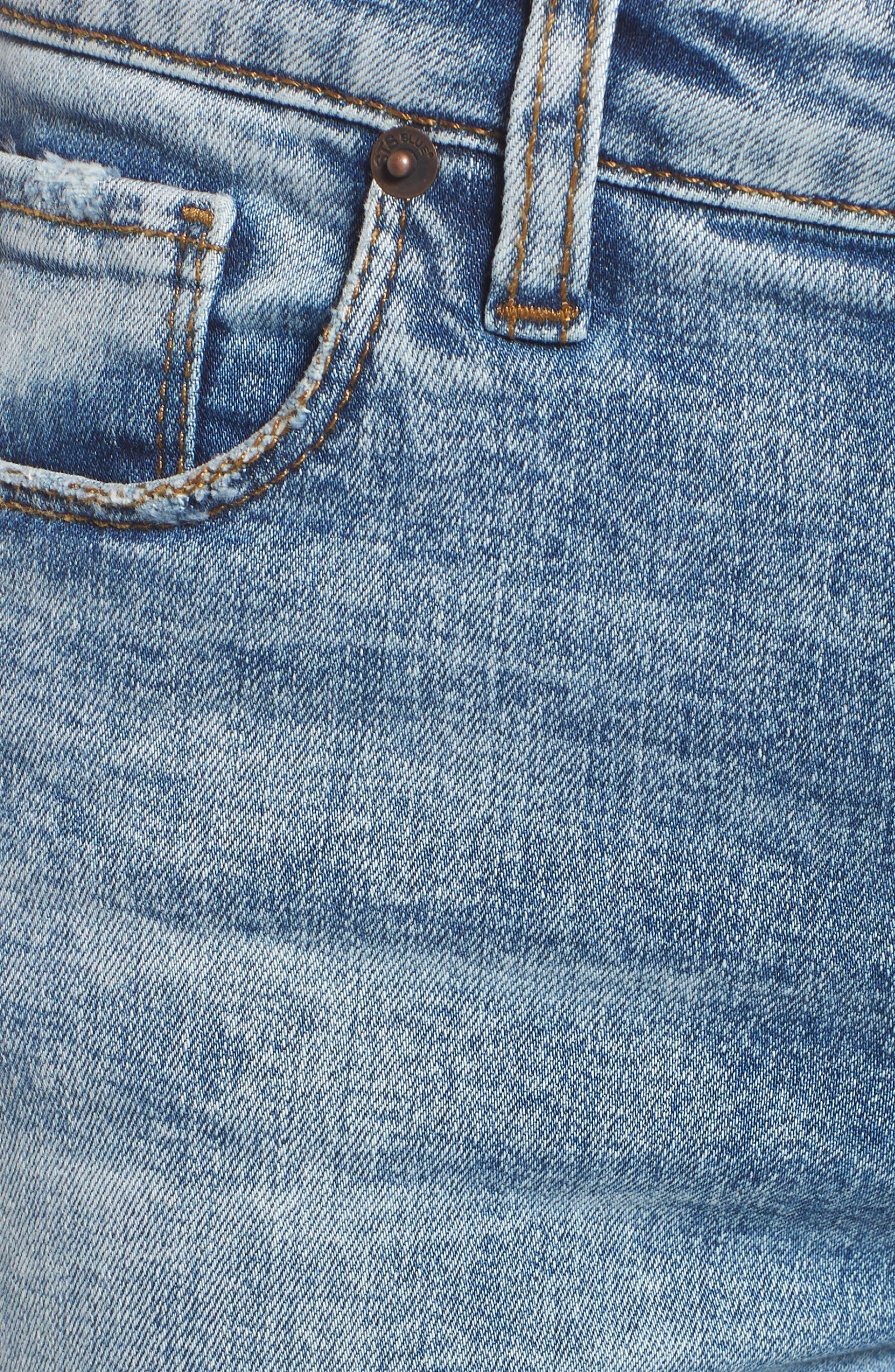 Emma Fray Hem Ankle Skinny Jeans,                             Alternate thumbnail 6, color,                             Durkee