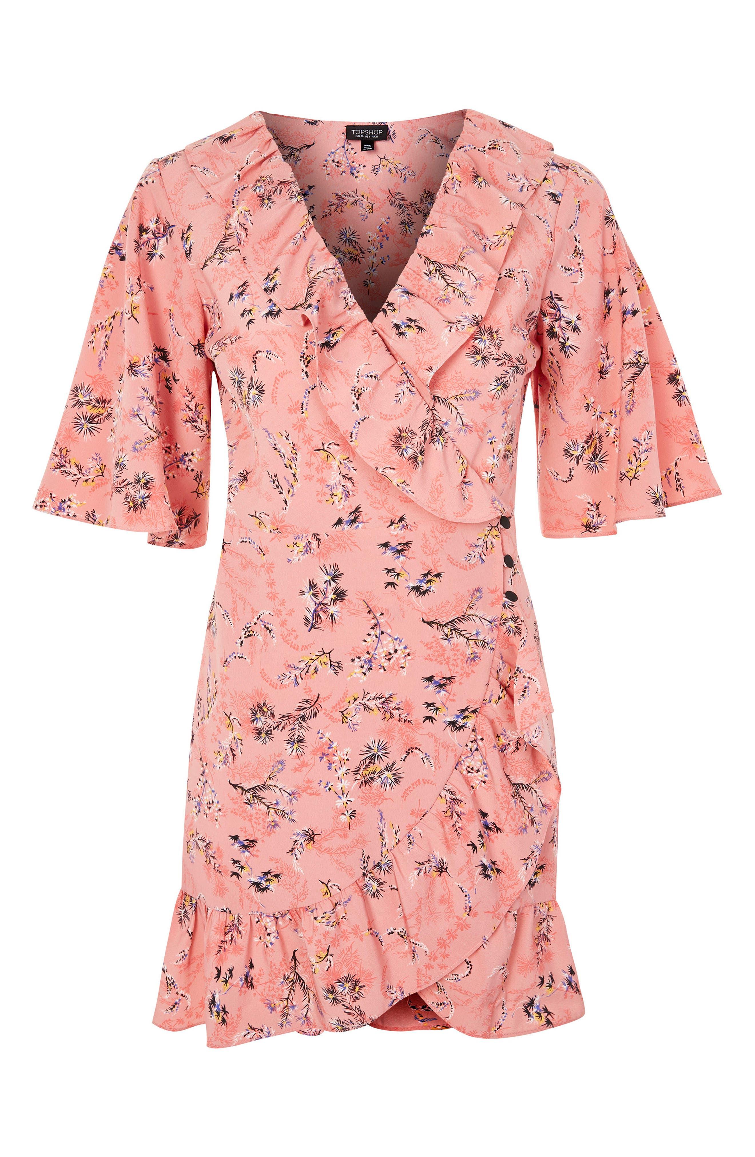 Off Duty Ruffle Tea Dress,                             Alternate thumbnail 5, color,                             Pink