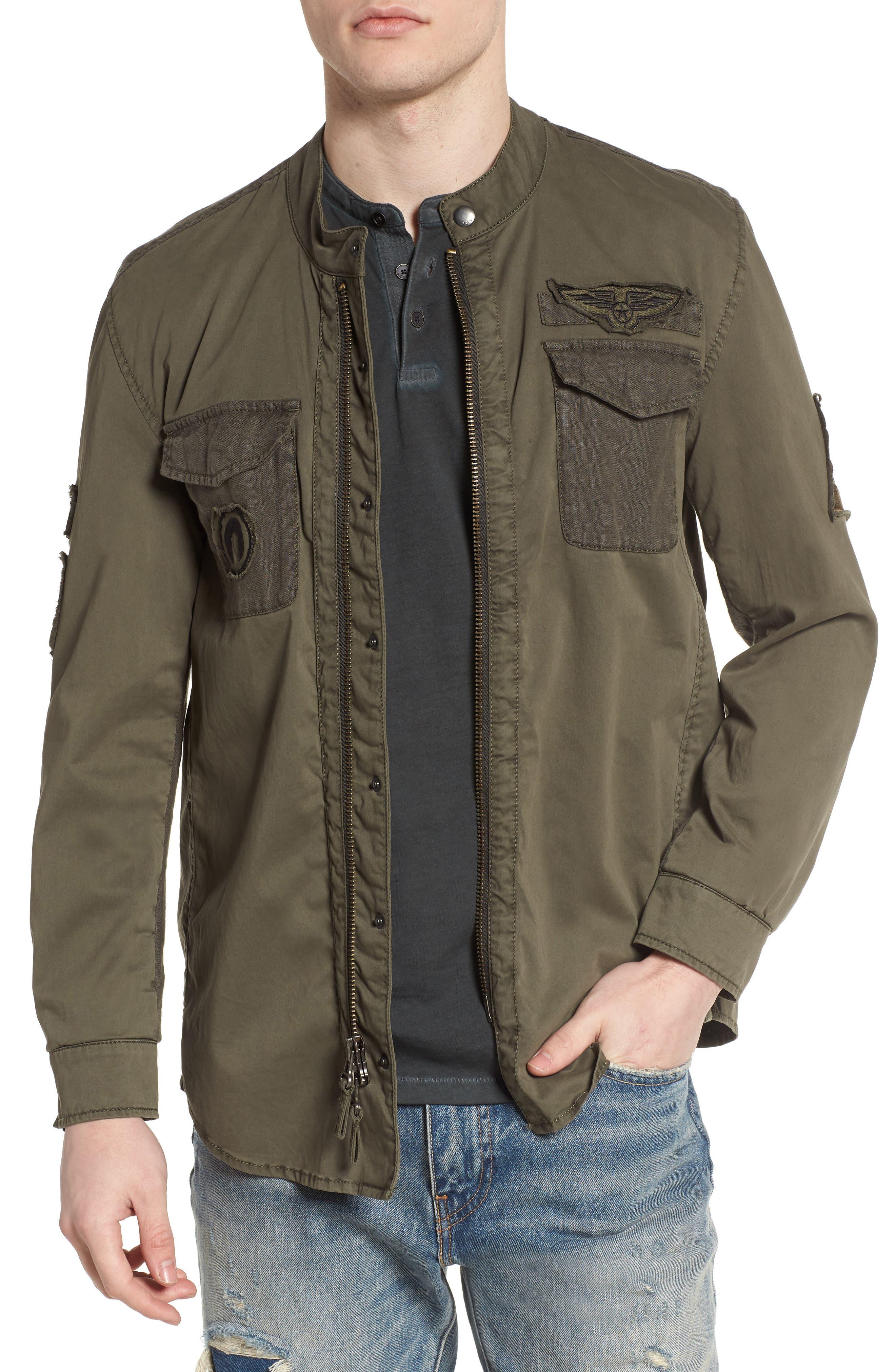 Shirt Jacket,                         Main,                         color, Olive