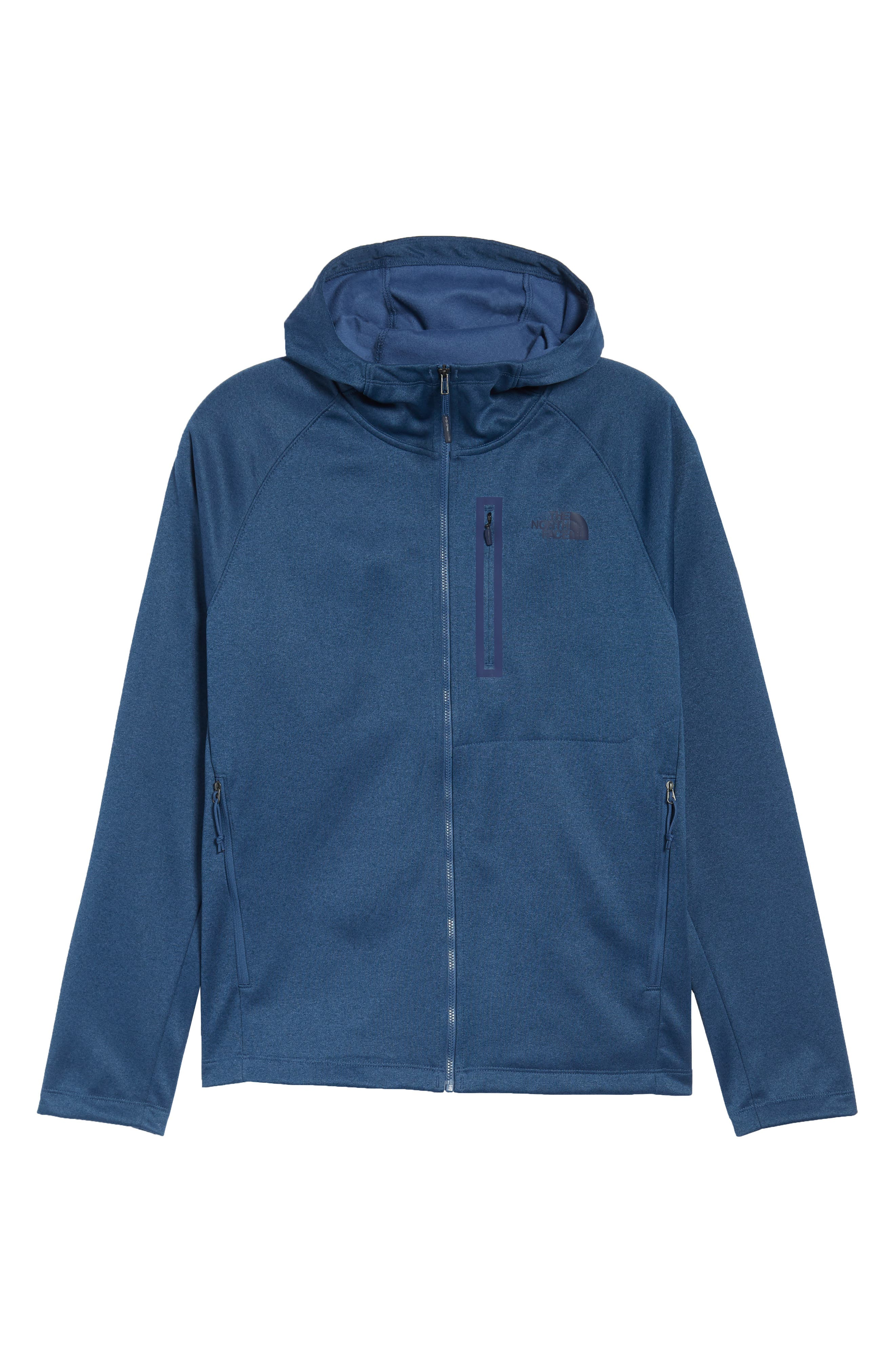 'Canyonlands' Full Zip Hoodie,                             Alternate thumbnail 6, color,                             Tnf Shady Blue Heather
