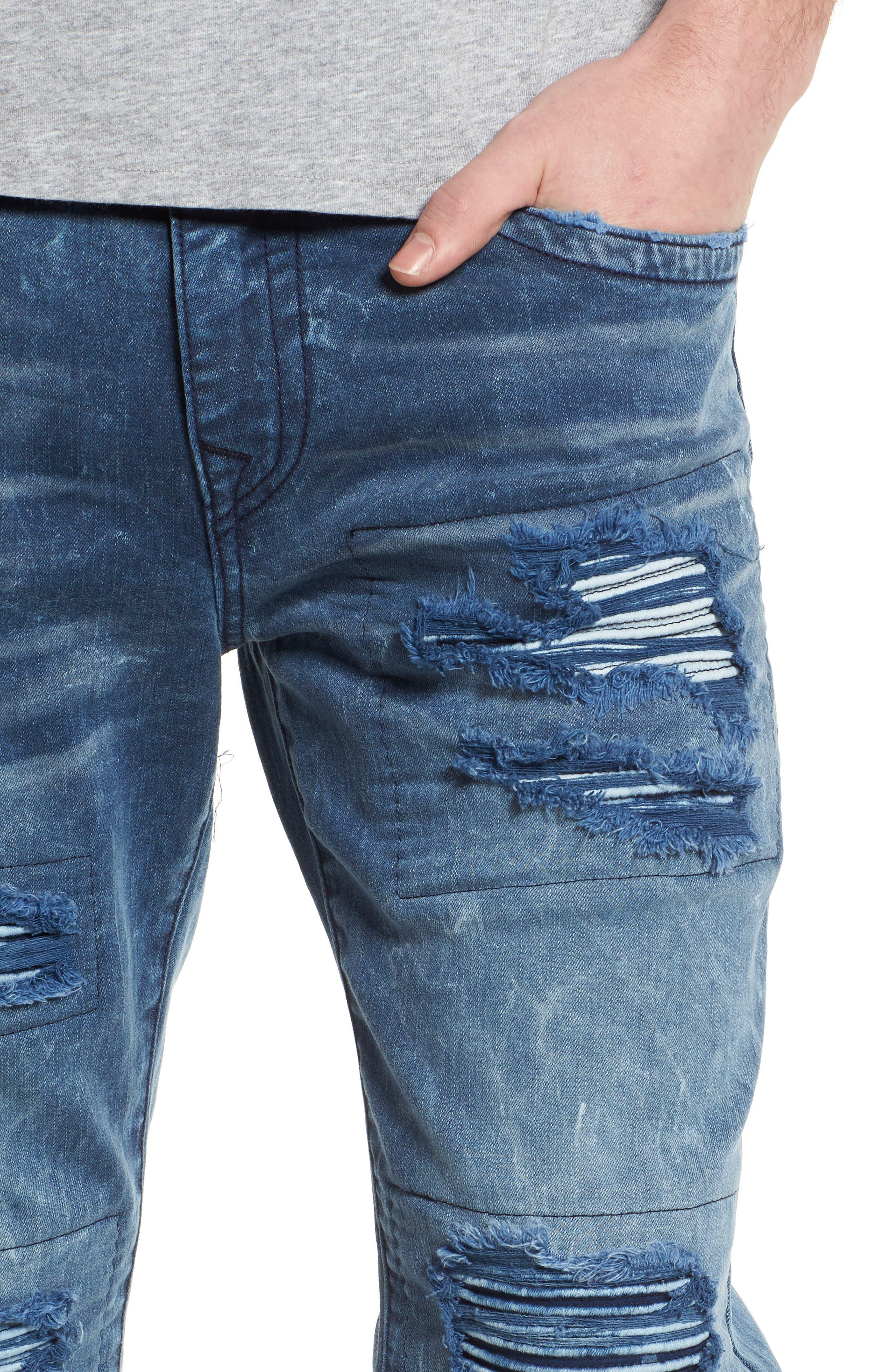 Alternate Image 4  - True Religion Brand Jeans Rocco Skinny Fit Jeans