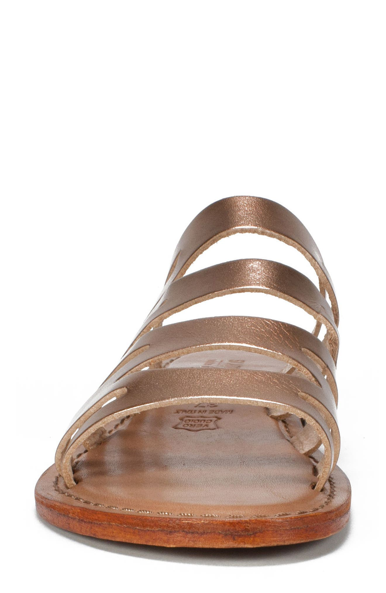 Eden Sandal,                             Alternate thumbnail 4, color,                             Rose Gold Leather