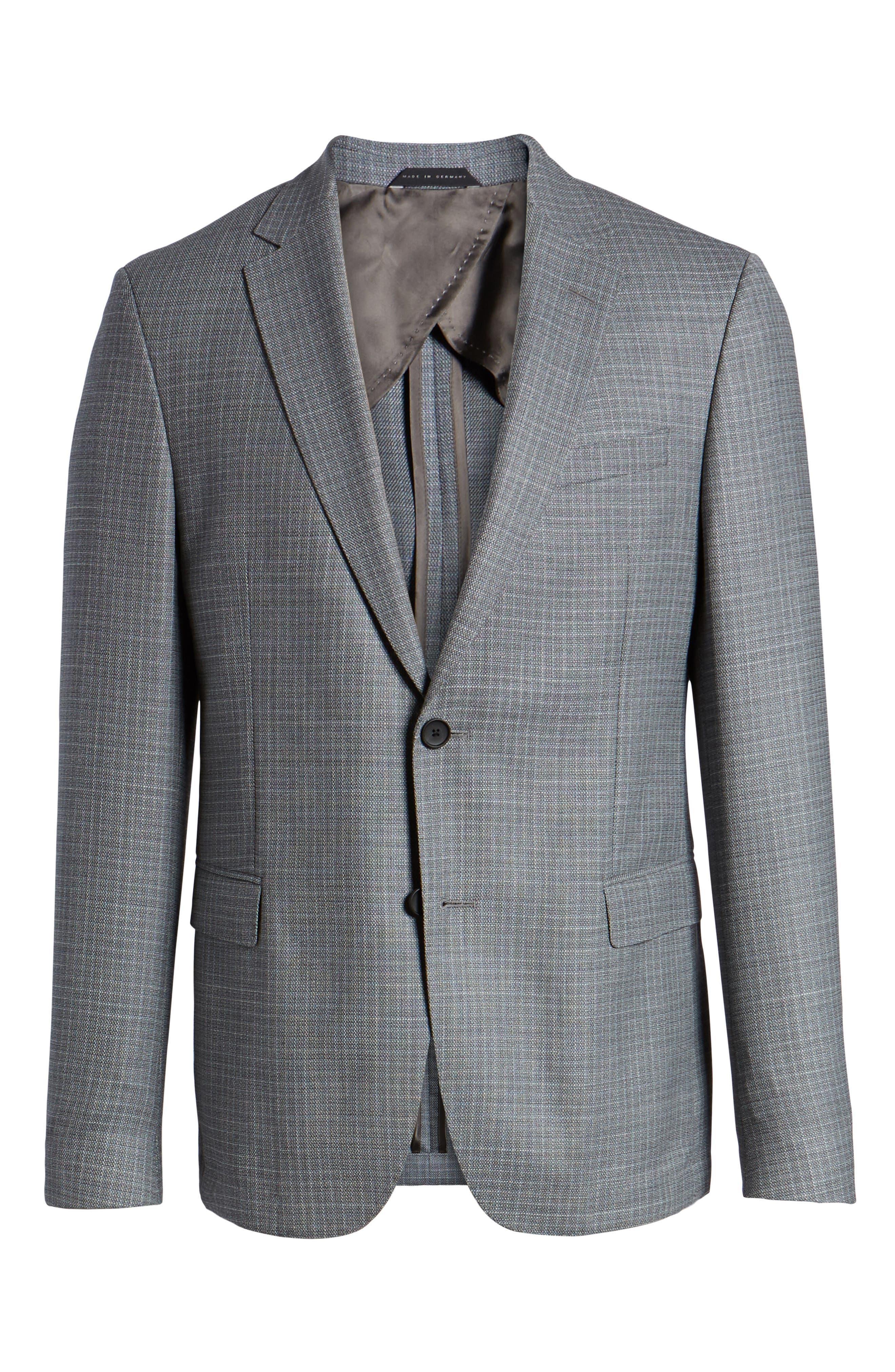 Nobis Trim Fit Wool Sport Coat,                             Alternate thumbnail 6, color,                             Medium Grey