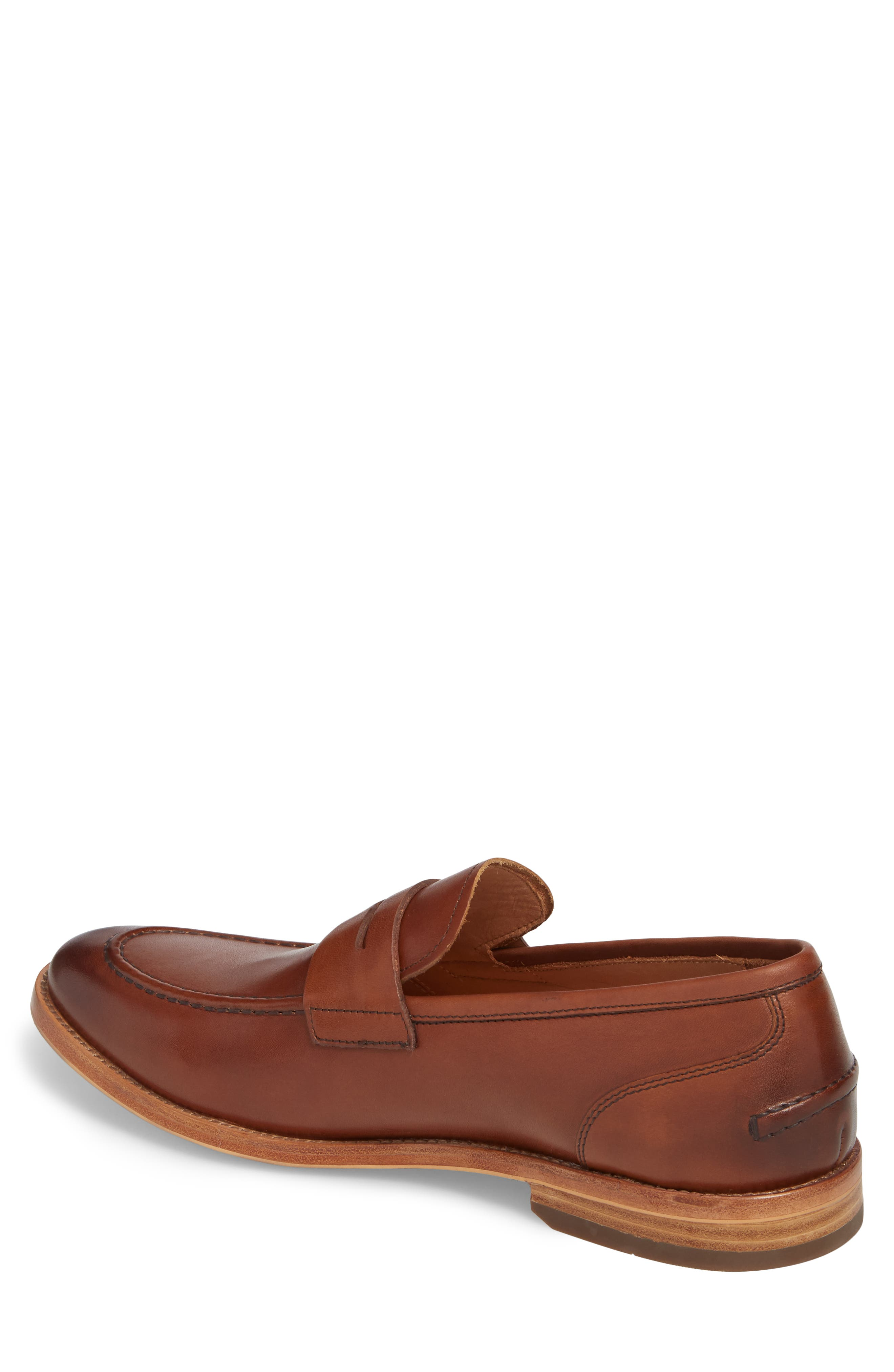 Lucas Loafer,                             Alternate thumbnail 2, color,                             Luggage Leather