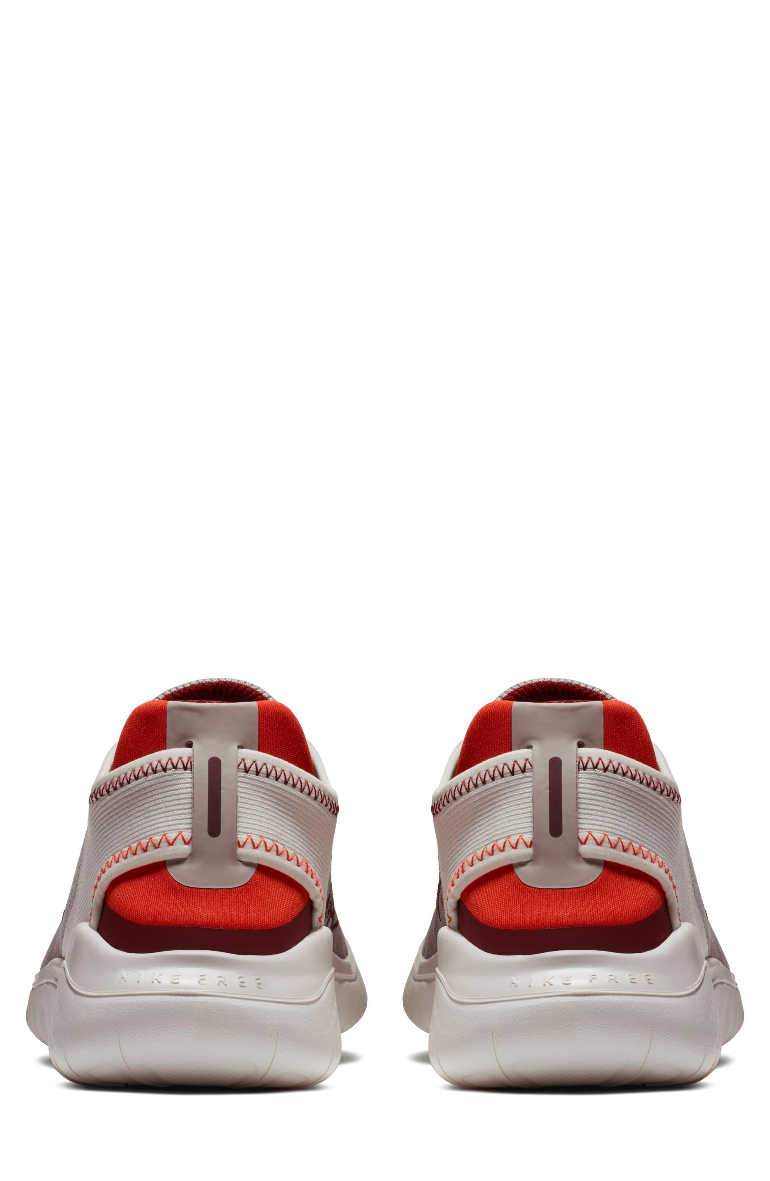 Free RN 2018 Running Shoe,                             Alternate thumbnail 2, color,                             Moon Particle/ Team Red
