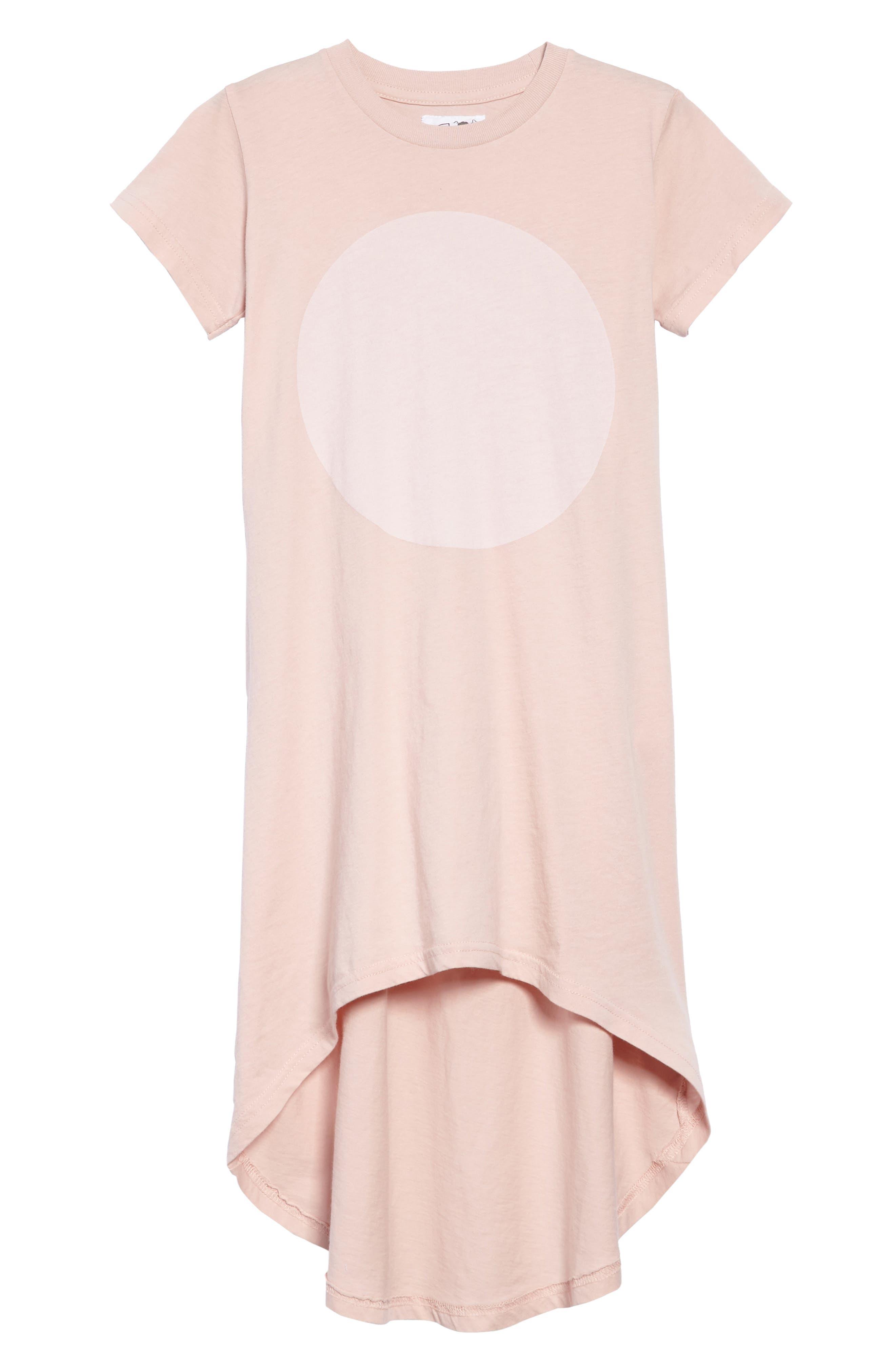 Circle Graphic Dress,                         Main,                         color, Powder Pink