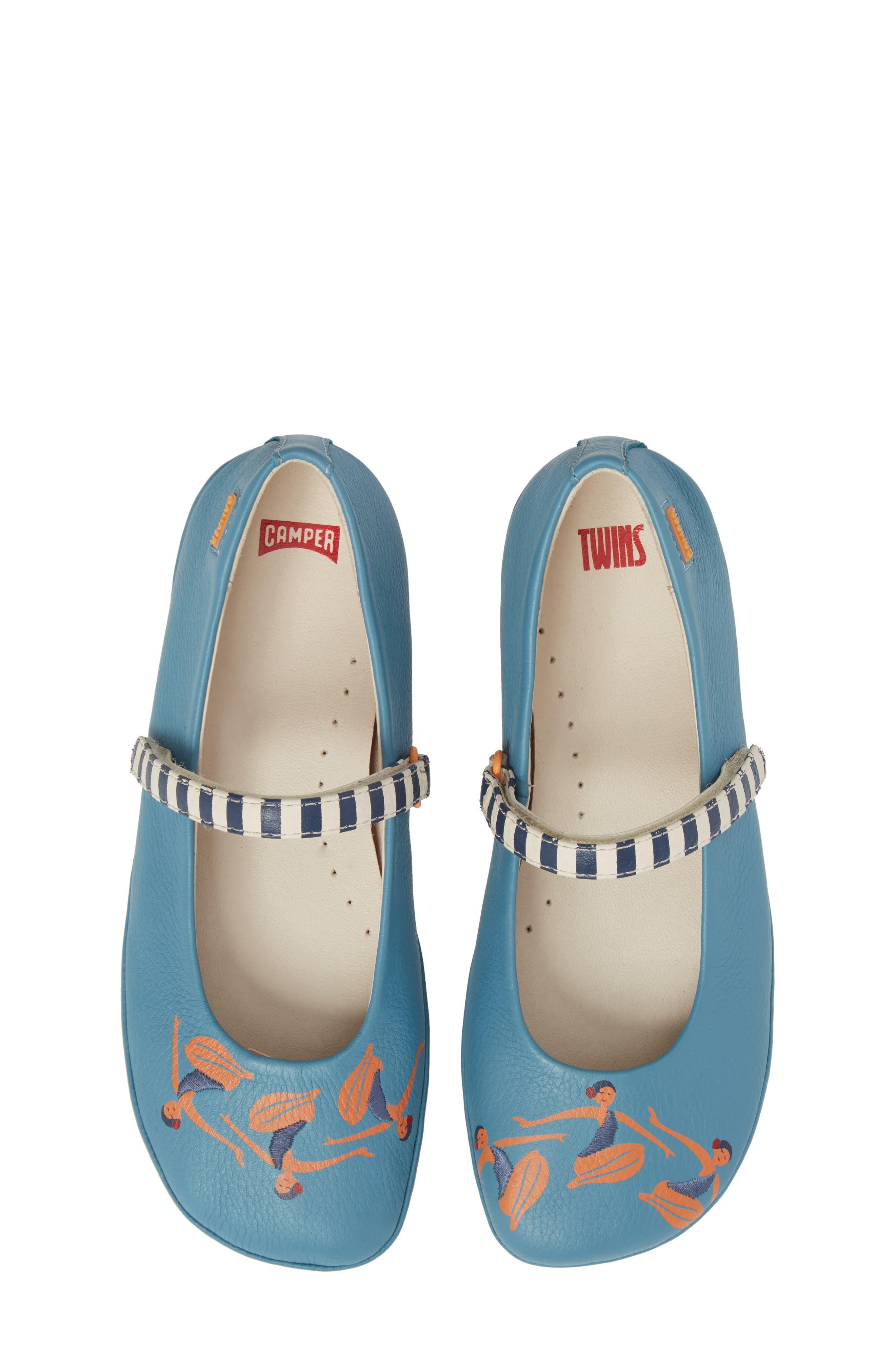 Twins Mary Jane Flat,                             Main thumbnail 1, color,                             Blue