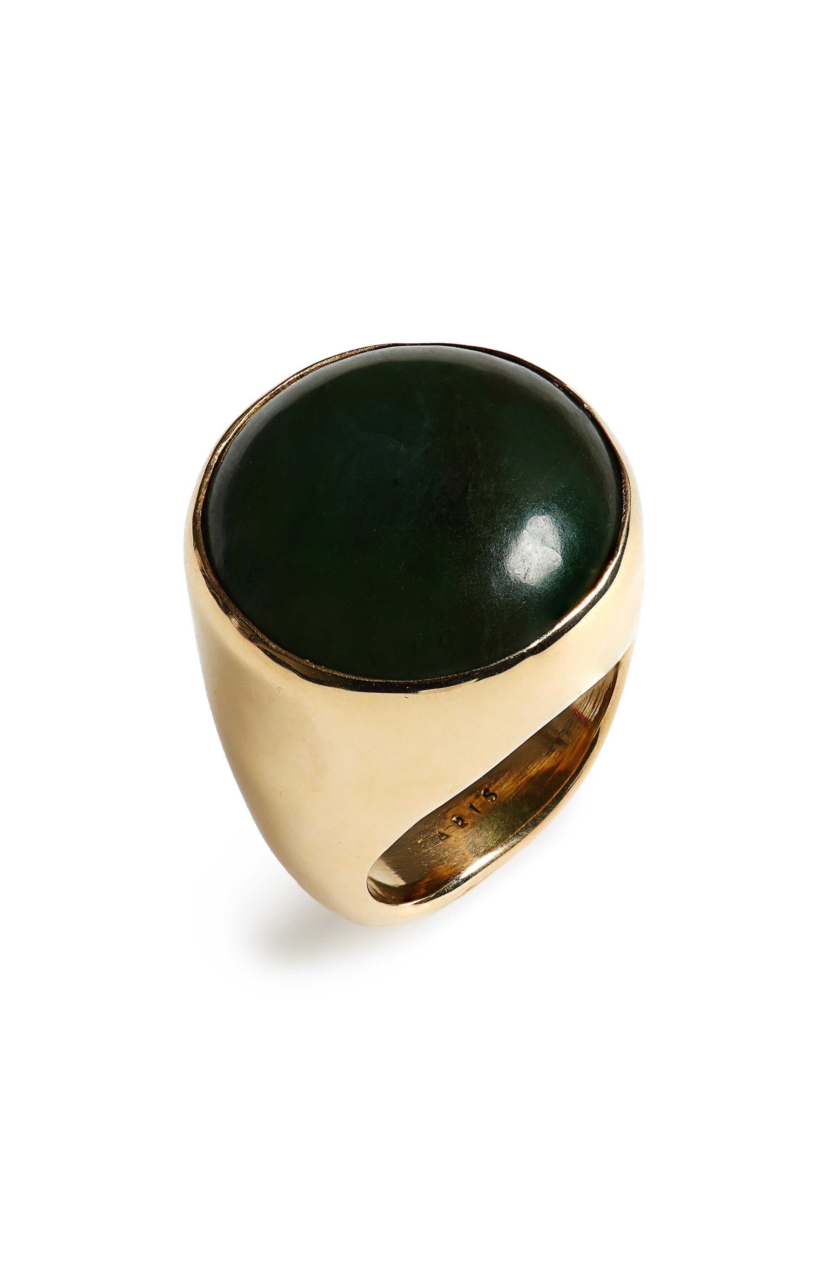 Bam Ring,                             Main thumbnail 1, color,                             Bronze/ Jade