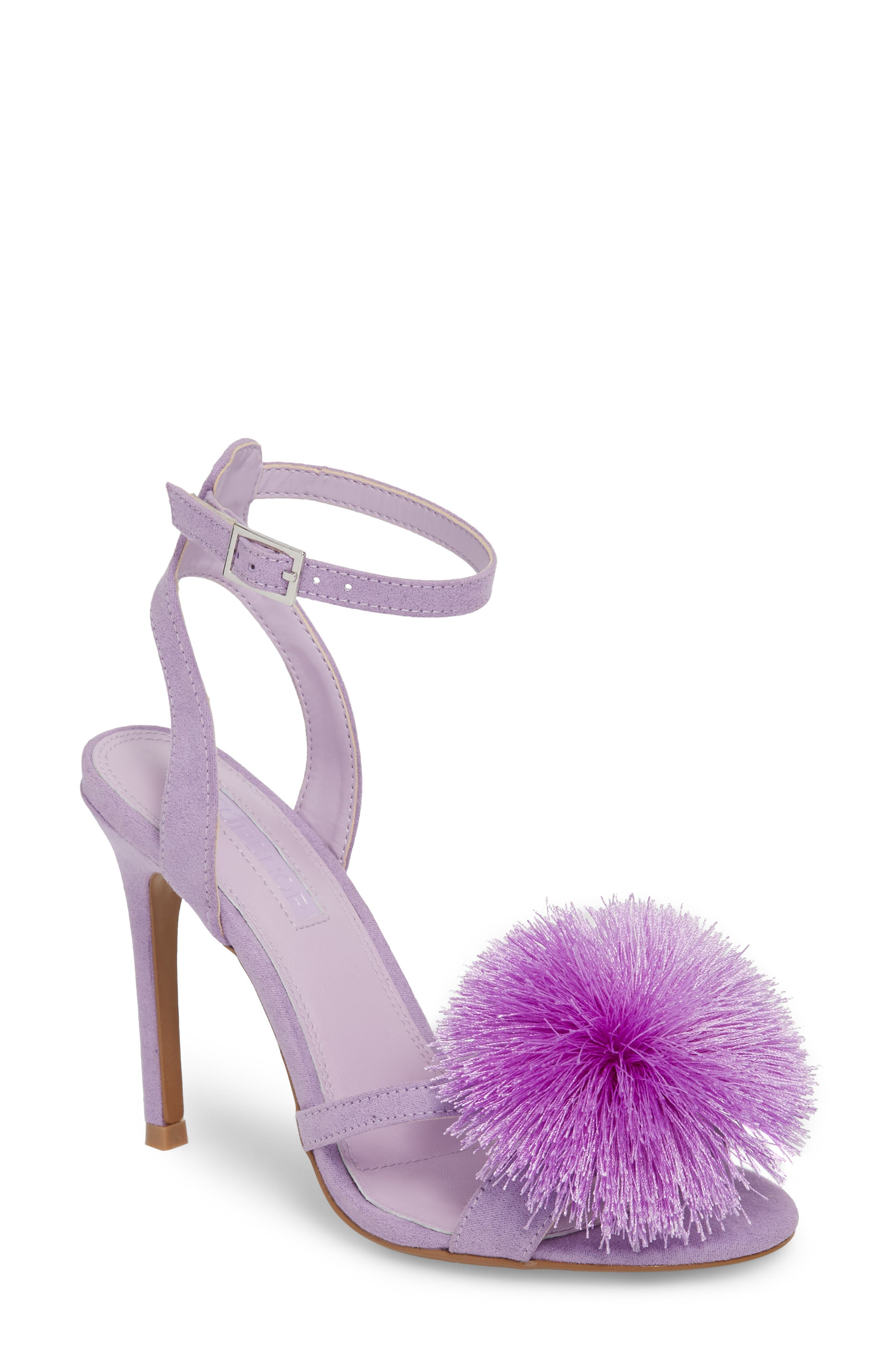 Renee Pompom Sandal,                         Main,                         color, Lilac