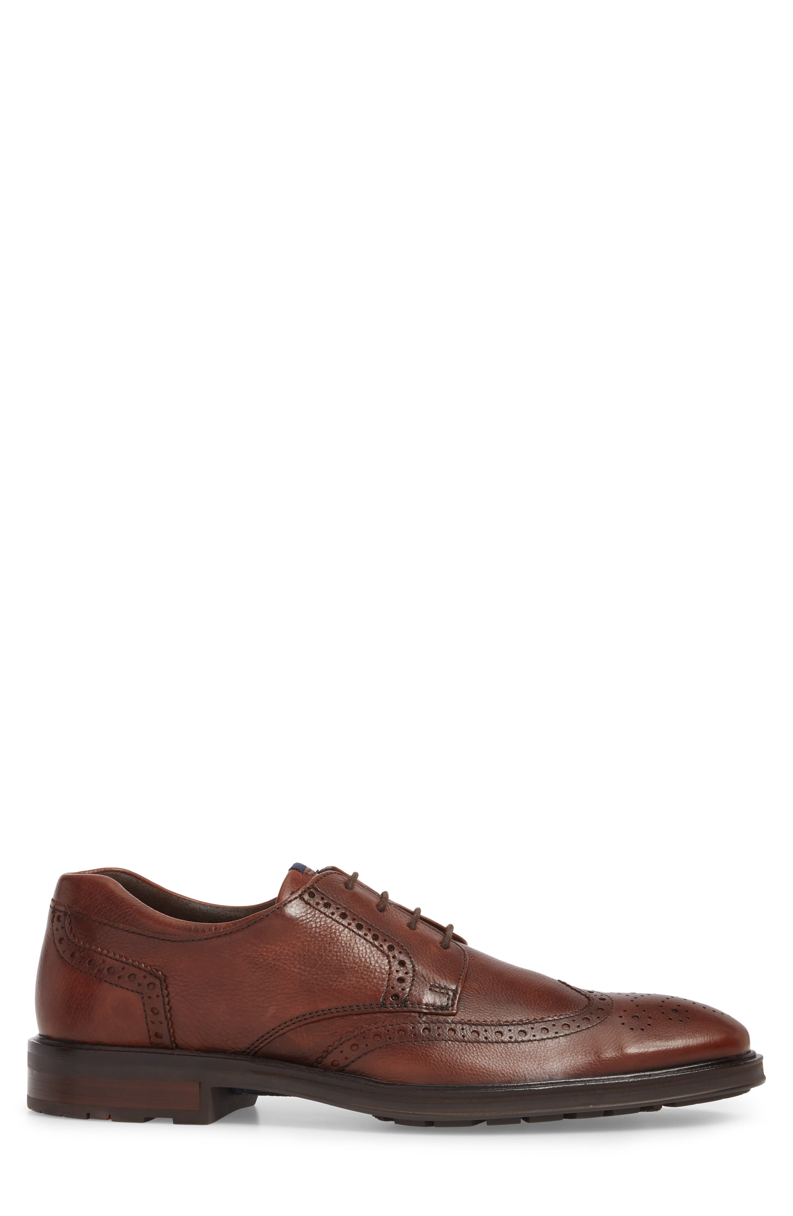 Marian Wingtip,                             Alternate thumbnail 3, color,                             Cafe Leather