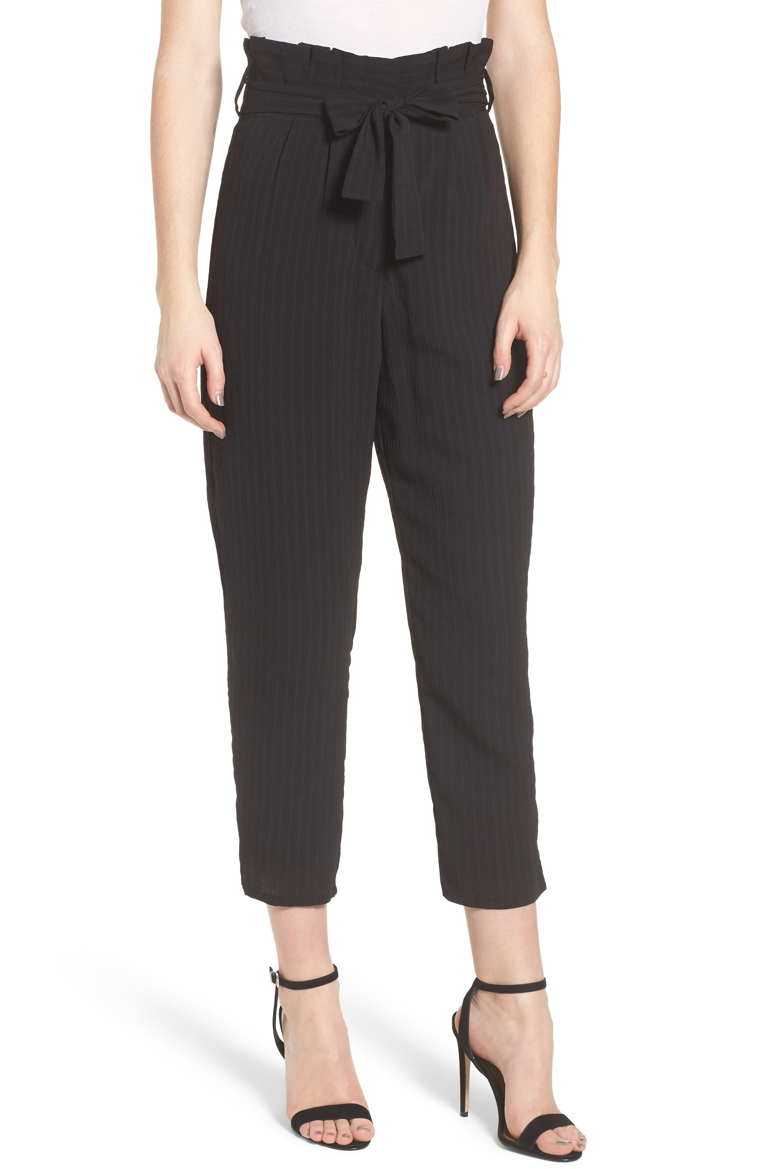 Irving High Waist Crop Pants,                             Main thumbnail 1, color,                             Night