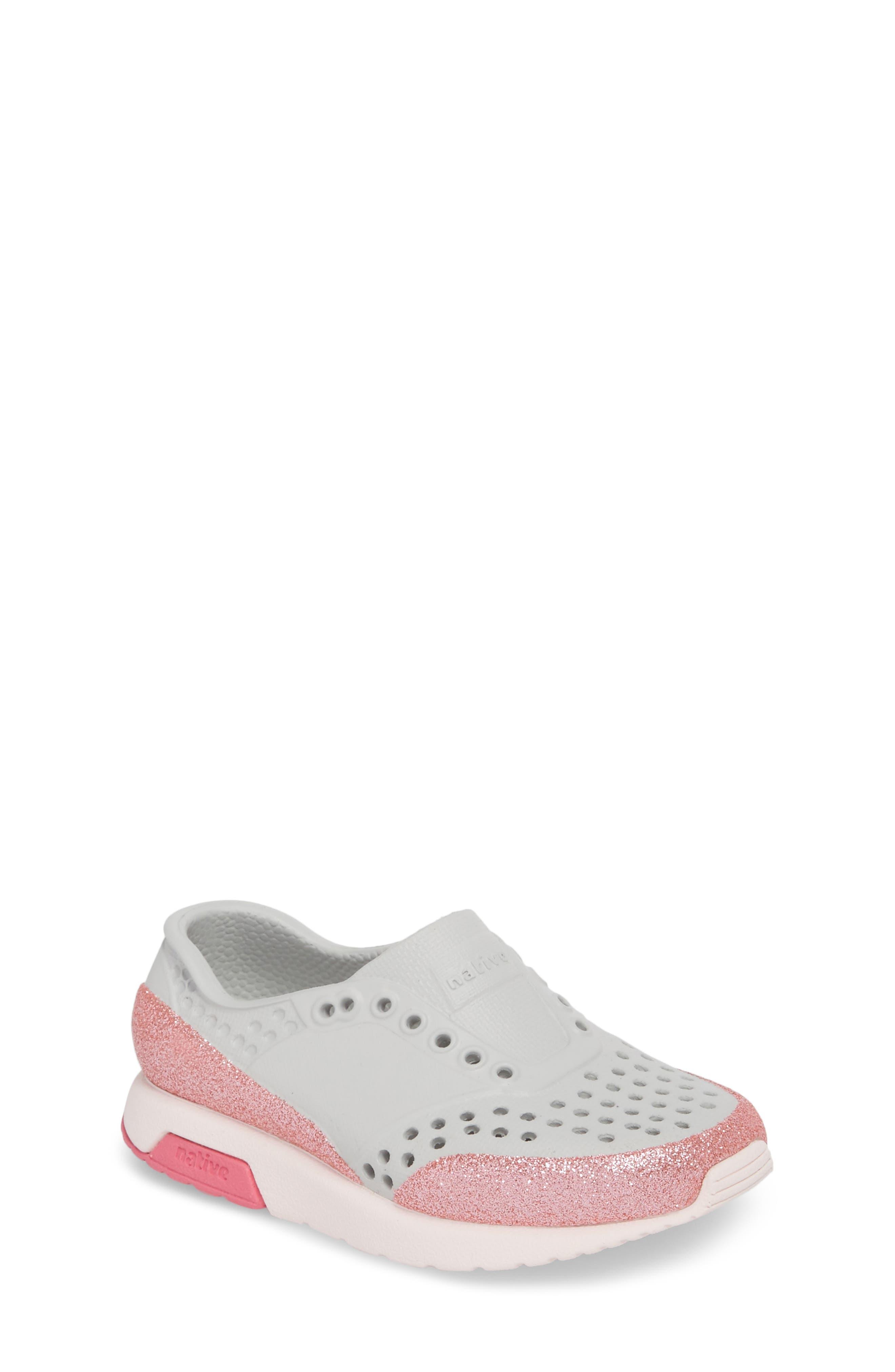 Lennox Glitter Slip-On Sneaker,                             Main thumbnail 1, color,                             Mist Grey/ Milk Pink/ Glitter