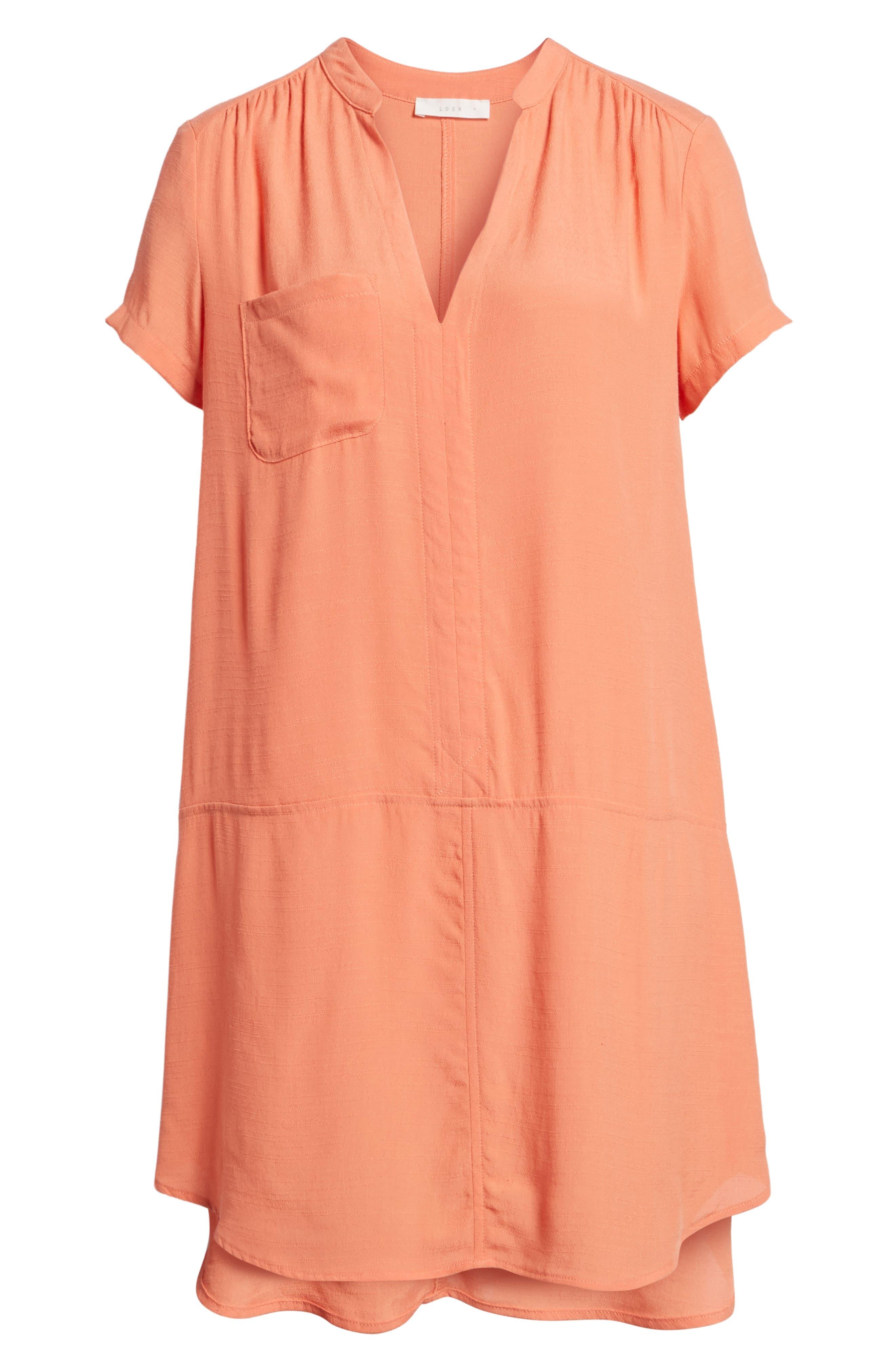 Alternate Image 6  - Split Neck Shift Dress