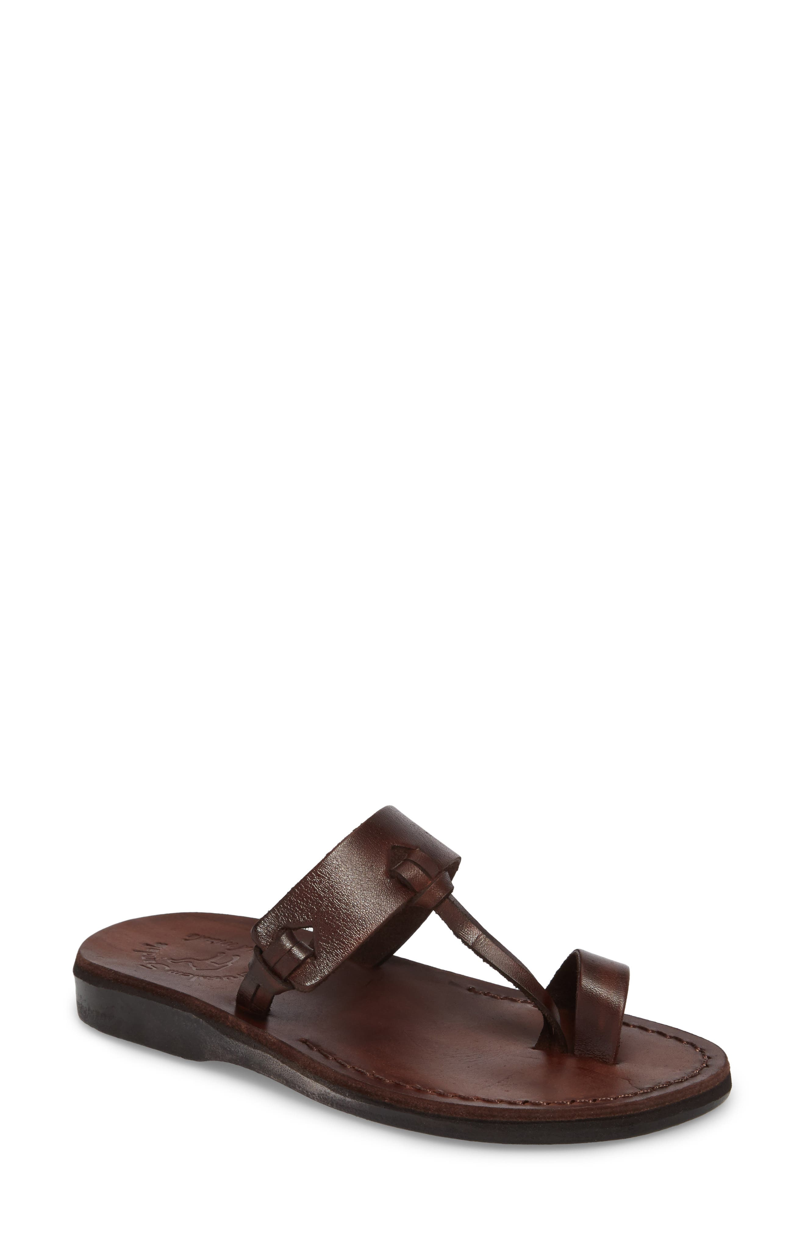 Sandals for Women On Sale, Platinum, Leather, 2017, 4 7.5 8.5 Anna F.