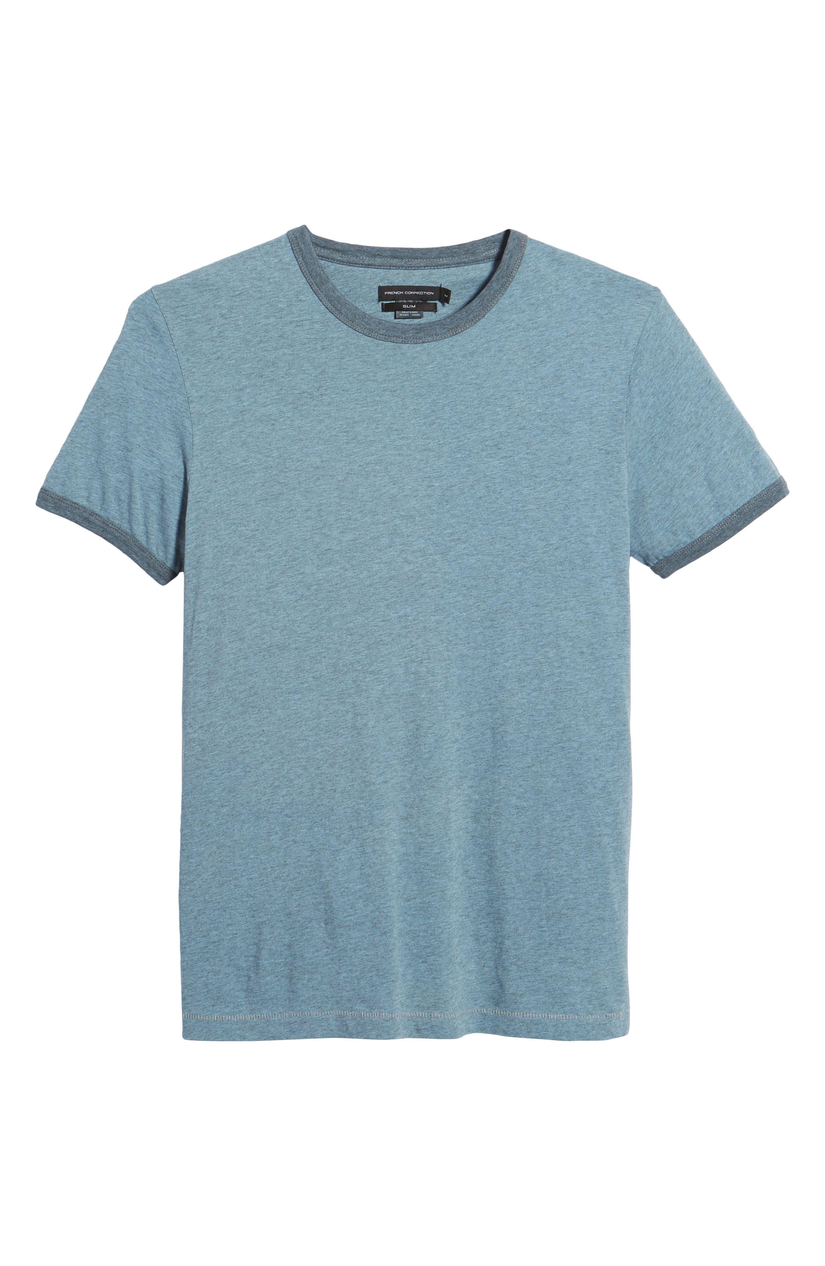 Bens Slim Fit Ringer T-Shirt,                             Alternate thumbnail 6, color,                             Overdyed Ashley Blue