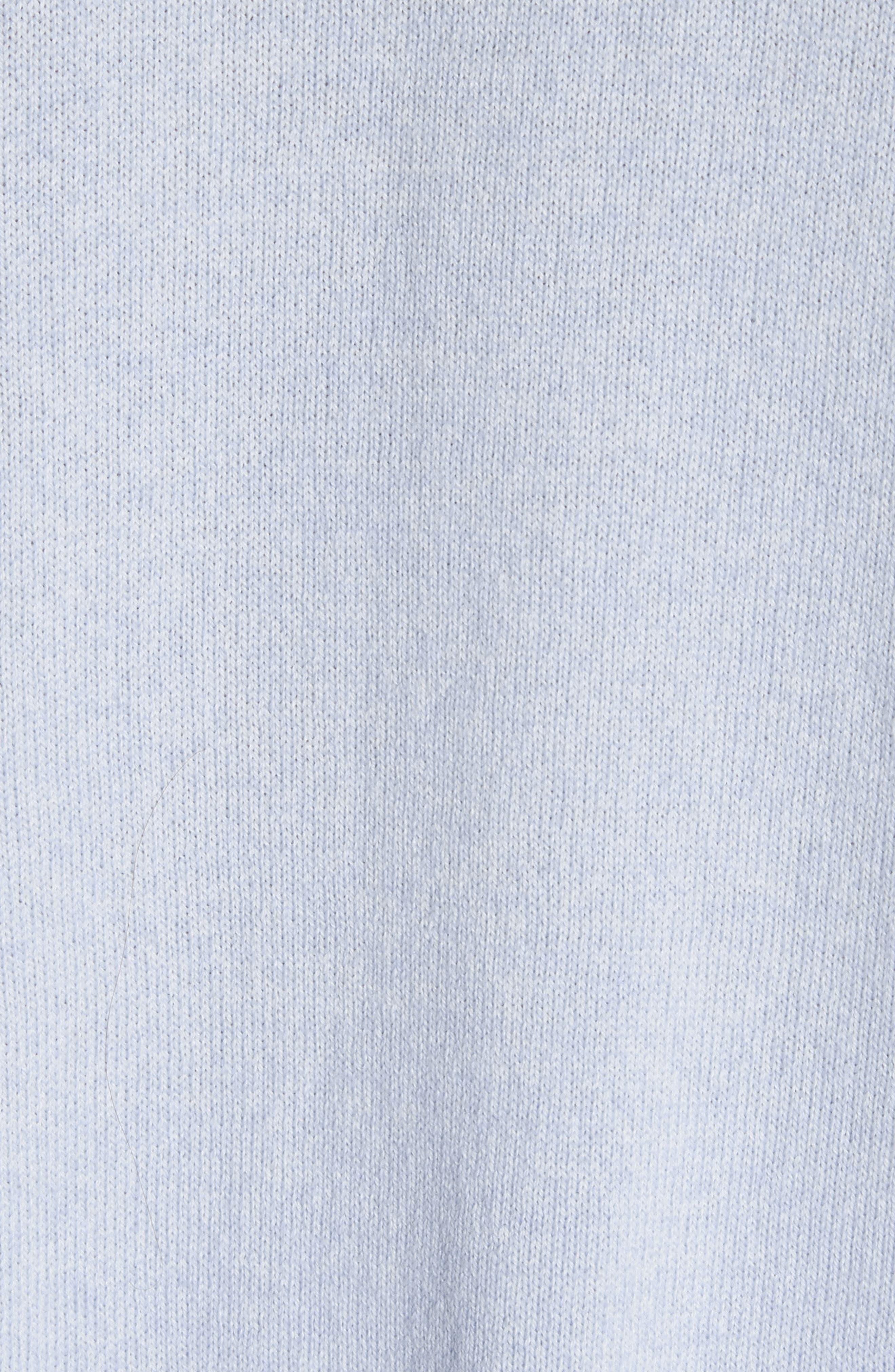 Cotton, Cashmere & Silk Oversized Scoop Neck Sweater,                             Alternate thumbnail 5, color,                             Pale Blue Melange