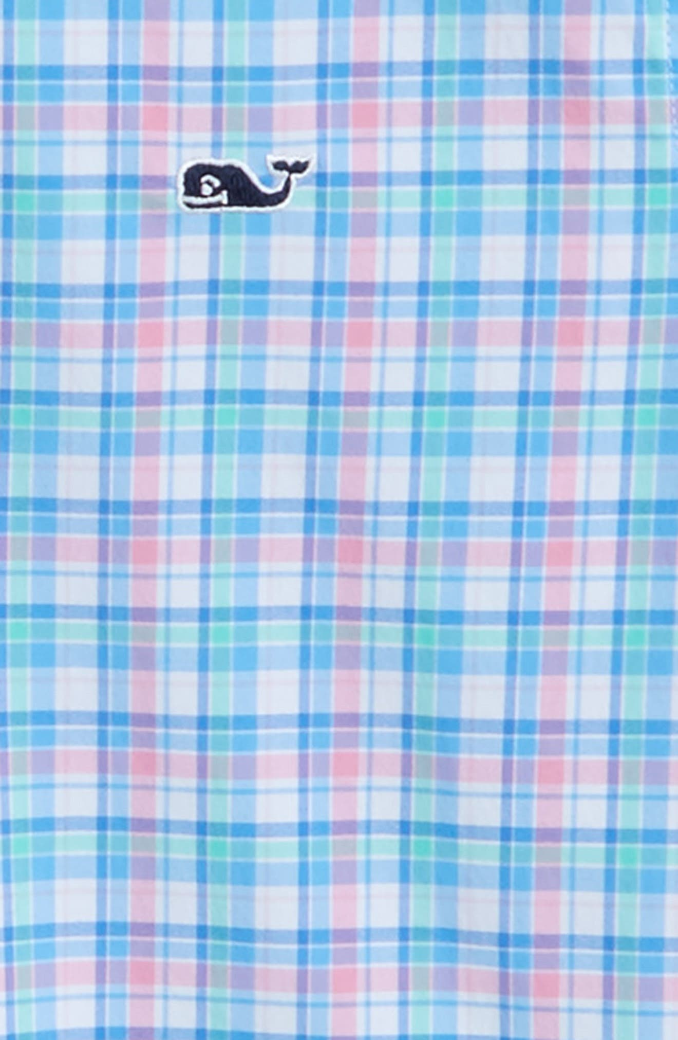 Sheltered Cove Plaid Whale Shirt,                             Alternate thumbnail 2, color,                             Pink
