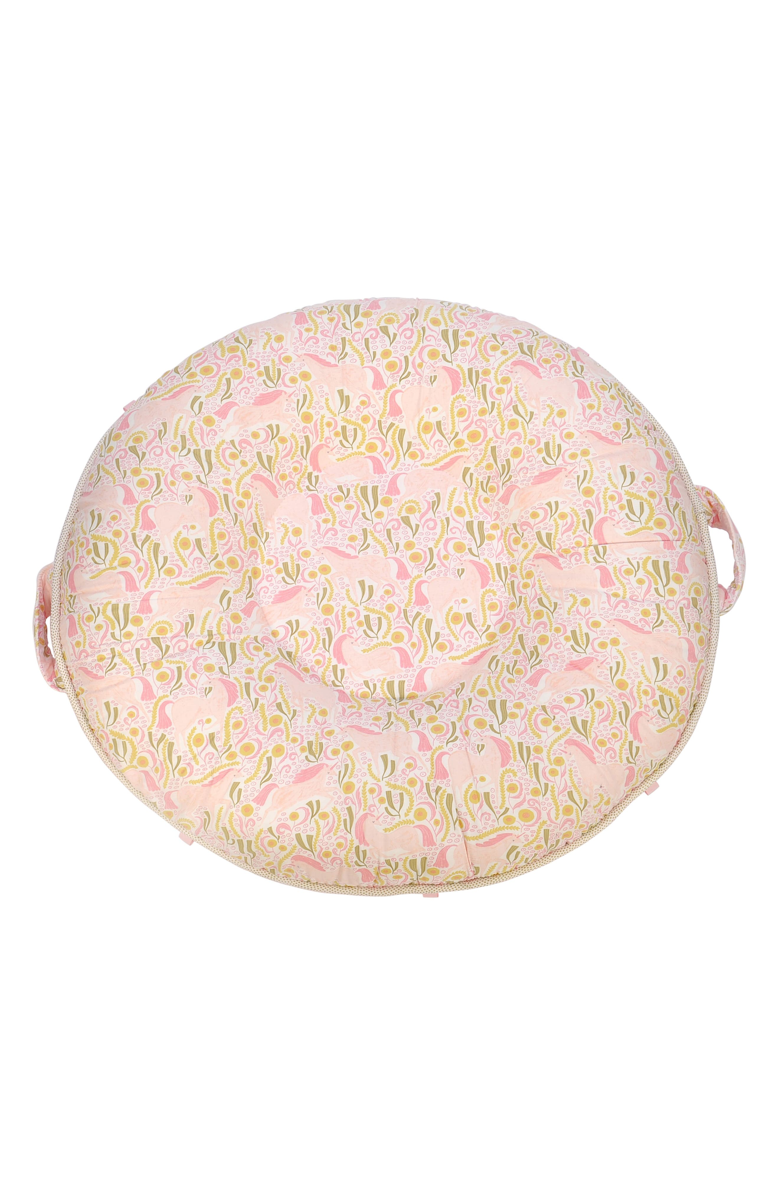 Isabel Luxe Portable Floor Pillow,                         Main,                         color, Light Pink
