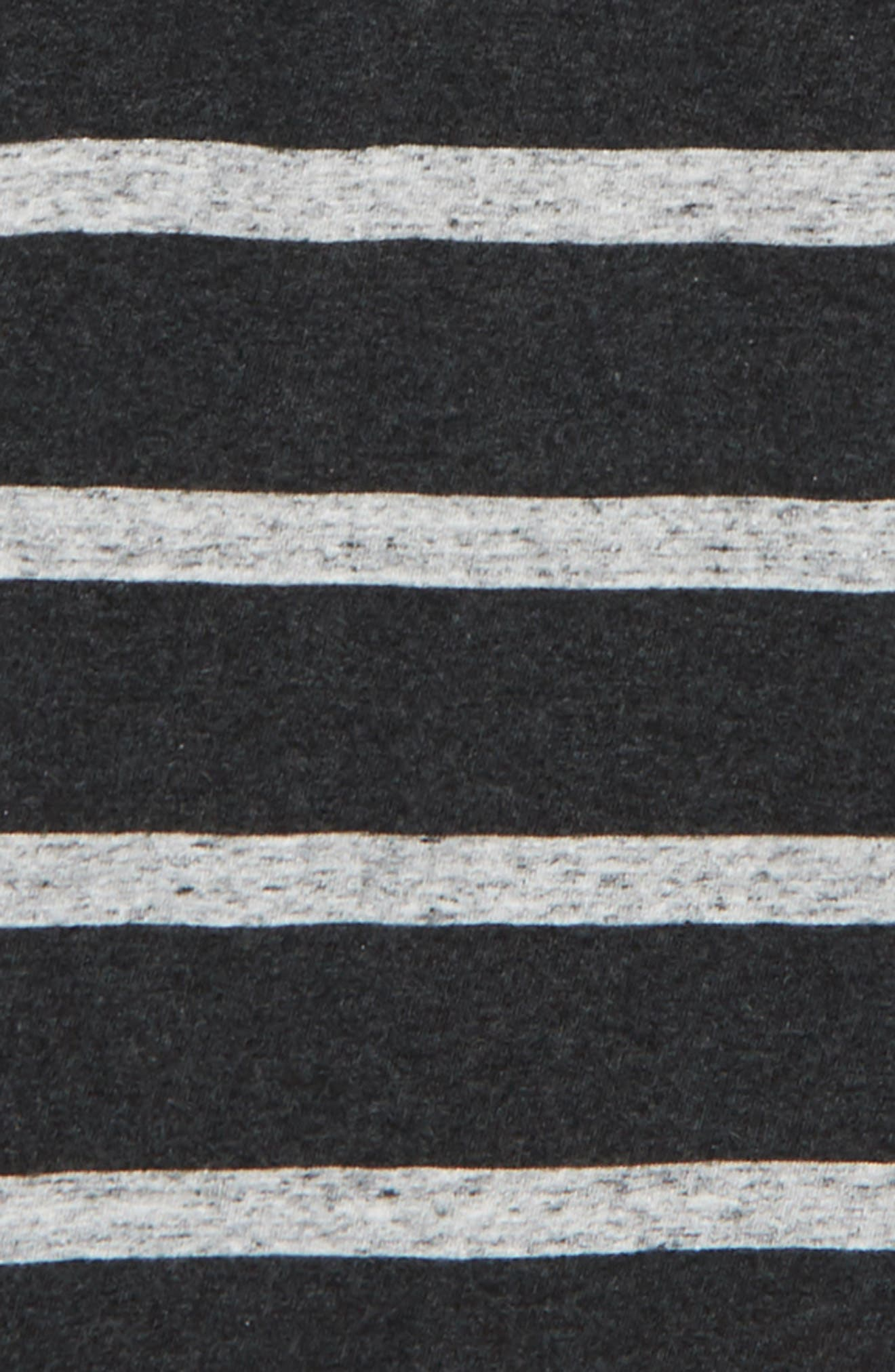 Stripe Hooded Henley,                             Alternate thumbnail 2, color,                             Grey Charcoal Heather- Grey