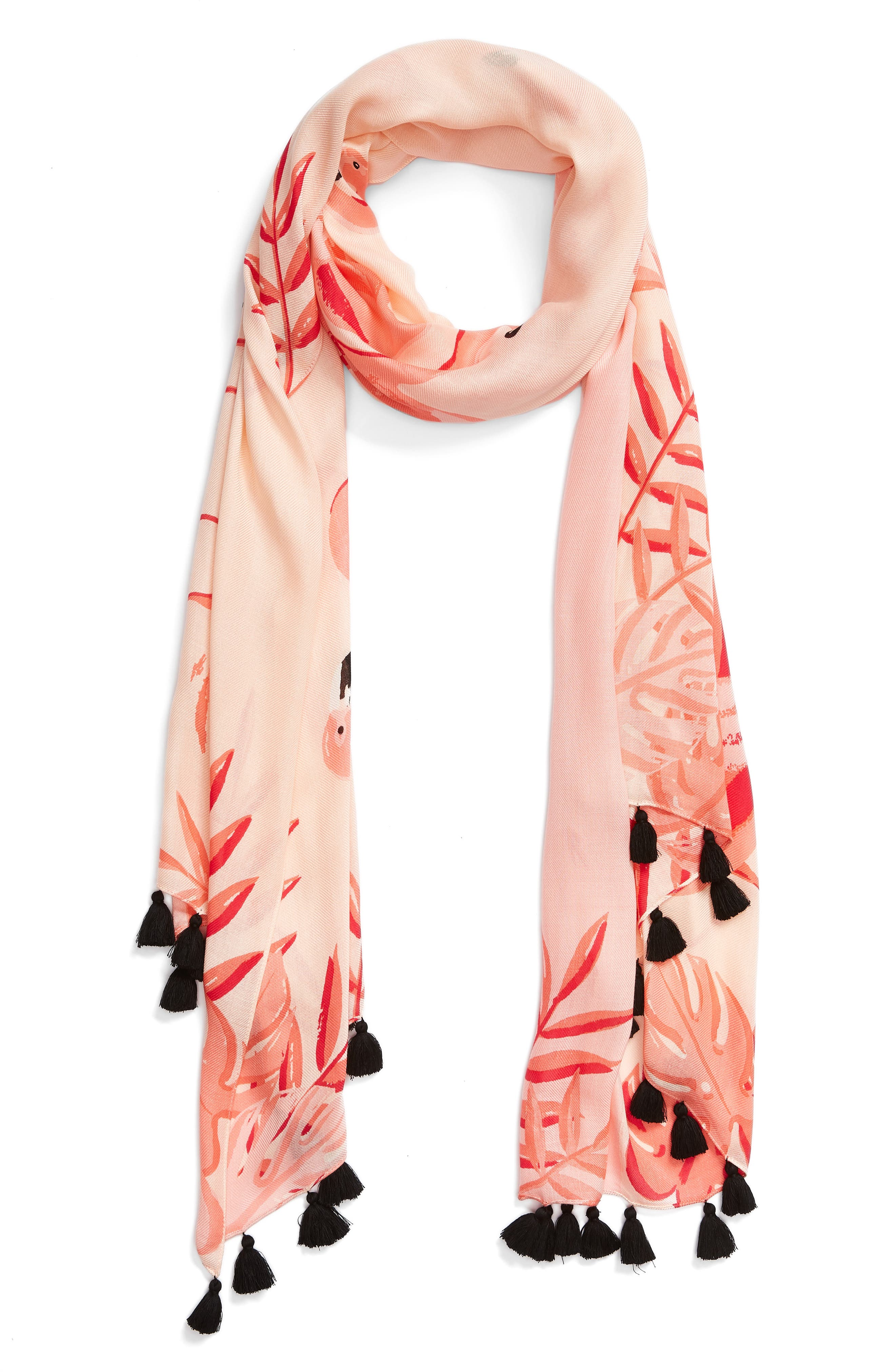 flamingo scarf,                             Alternate thumbnail 2, color,                             Apricot Sorbet