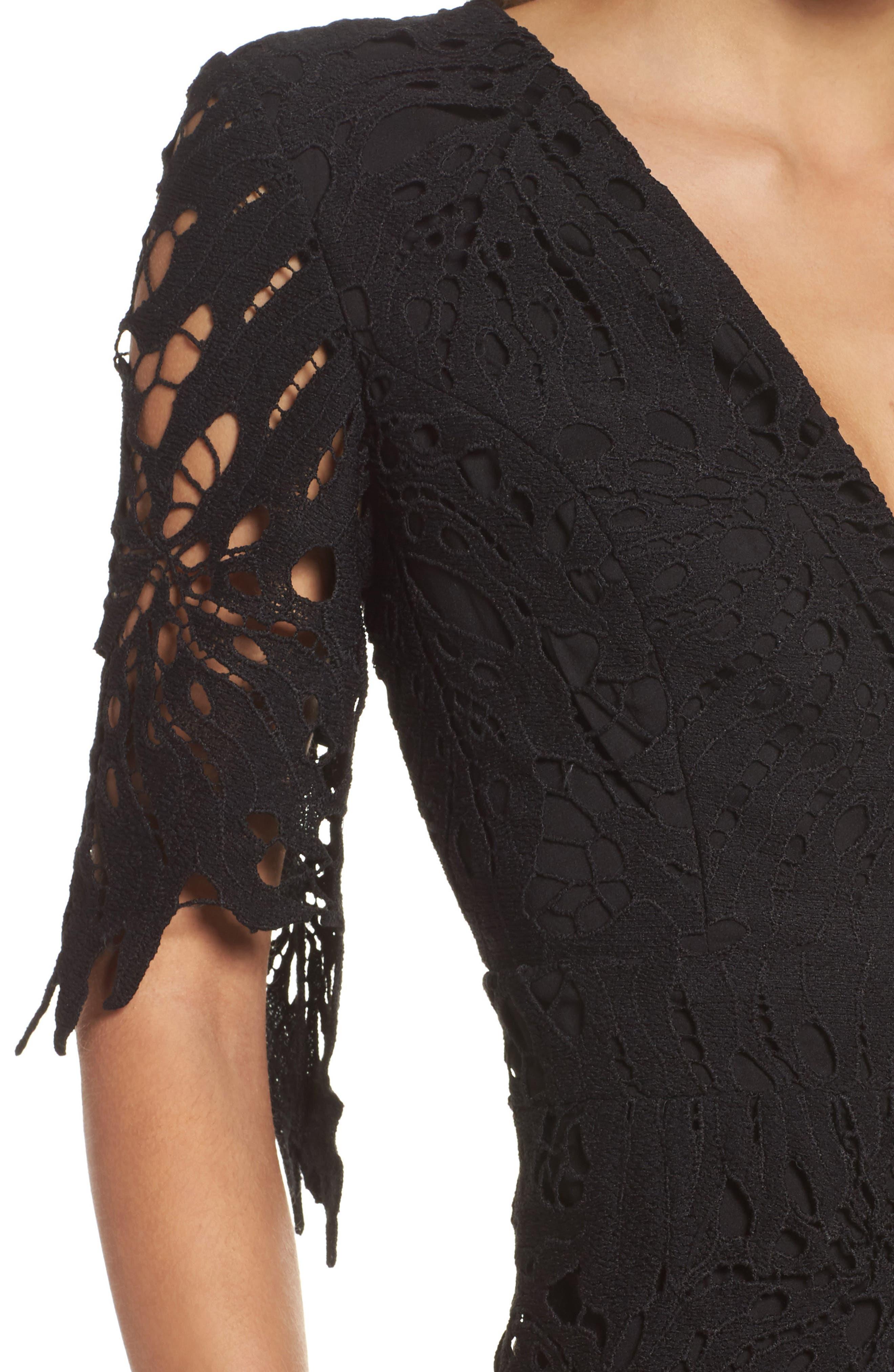 Amalfi Lace Romper,                             Alternate thumbnail 6, color,                             Black