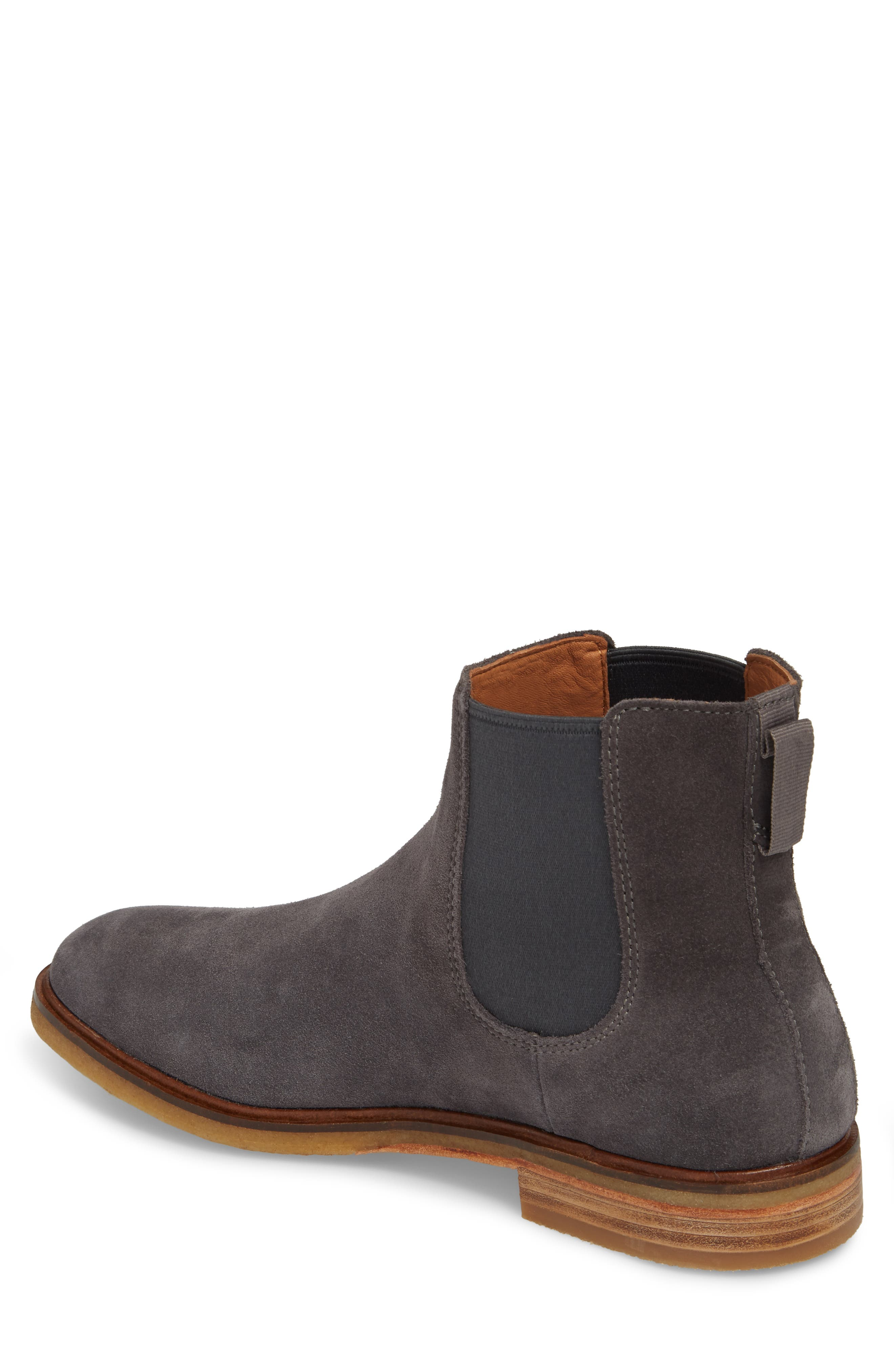 Clarkdale Chelsea Boot,                             Alternate thumbnail 2, color,                             Grey Suede