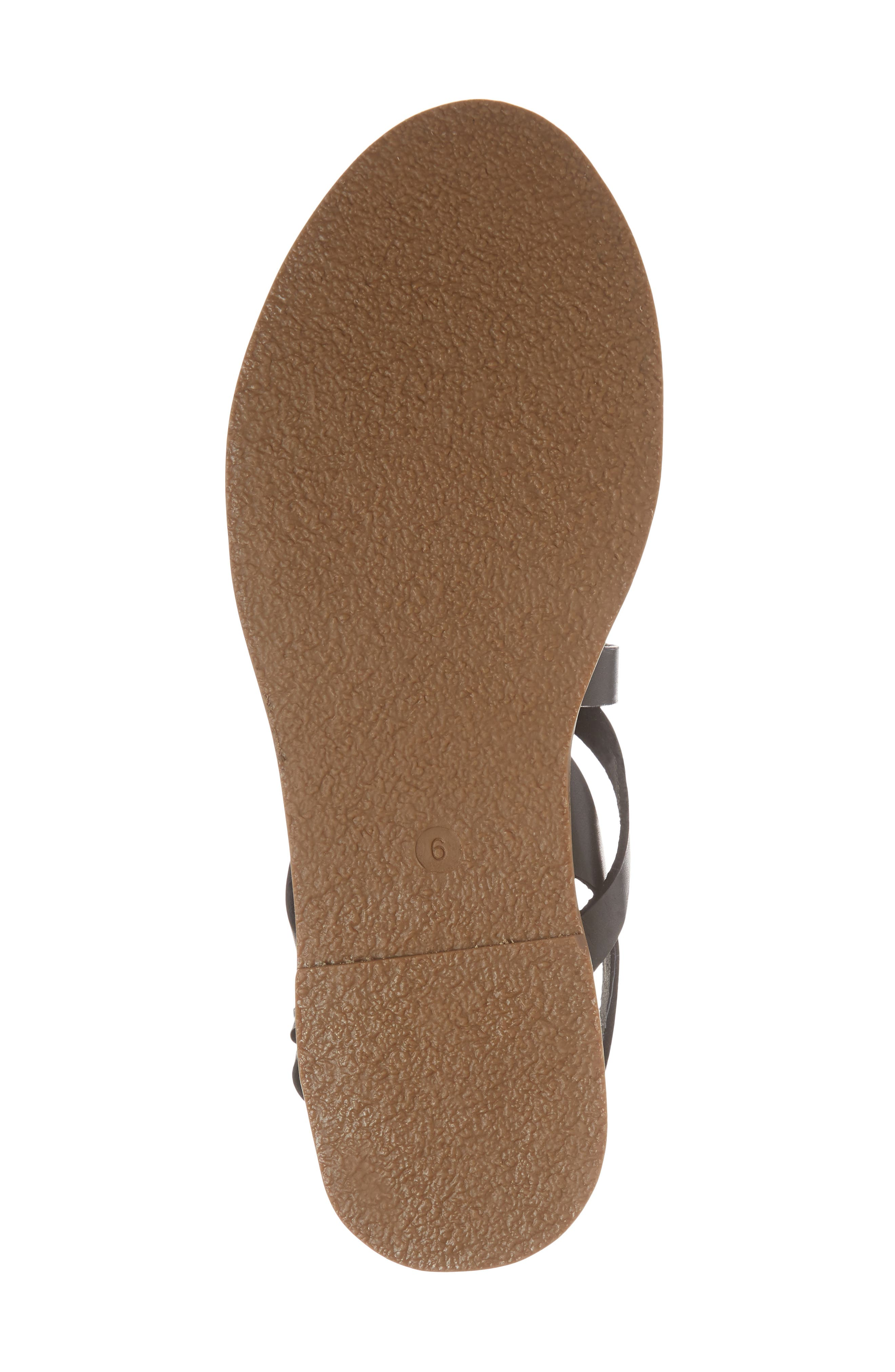 The Boardwalk Multistrap Sandal,                             Alternate thumbnail 6, color,                             True Black Leather