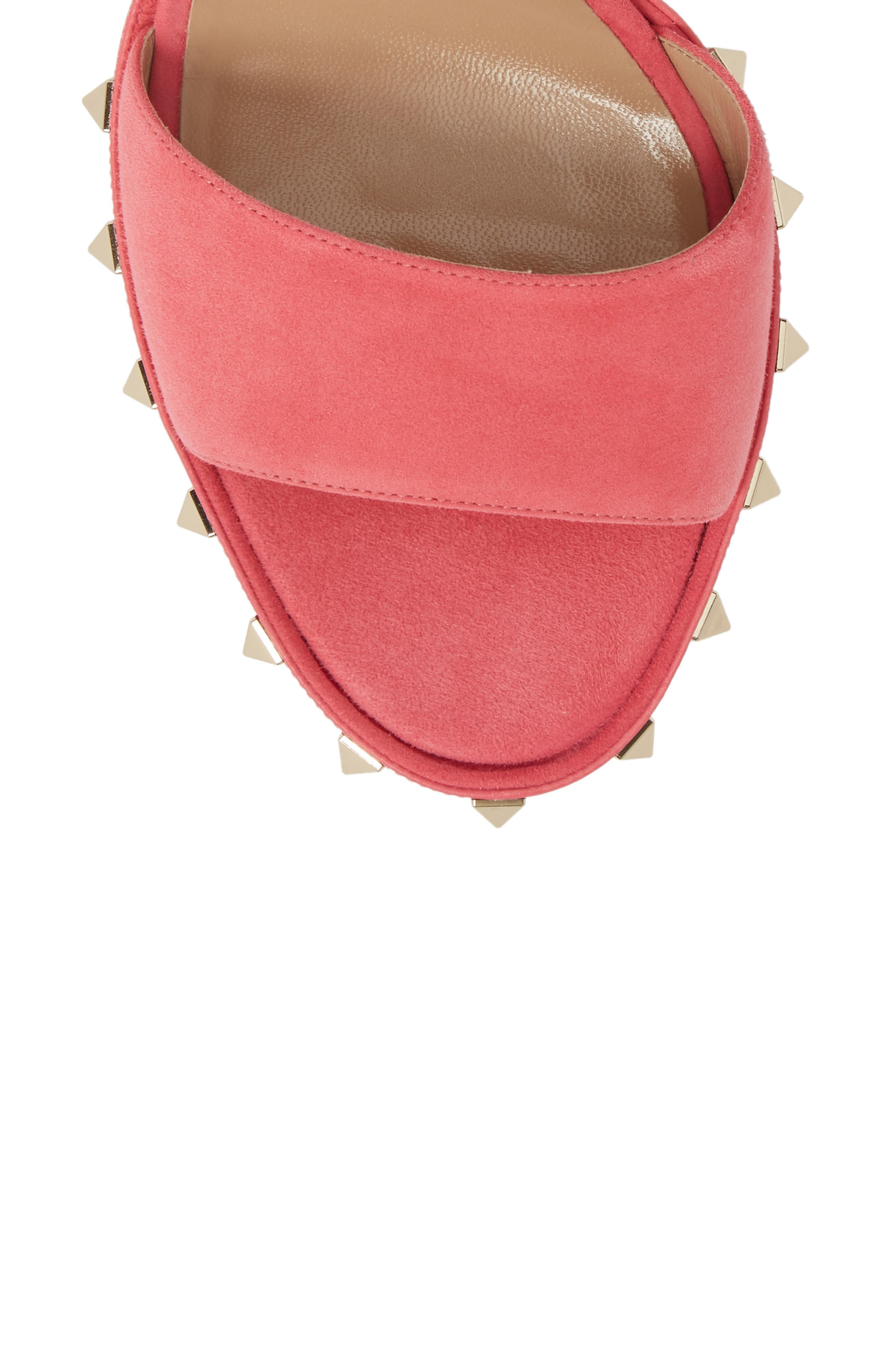 Rockstud Platform Sandal,                             Alternate thumbnail 5, color,                             Shadow Pink