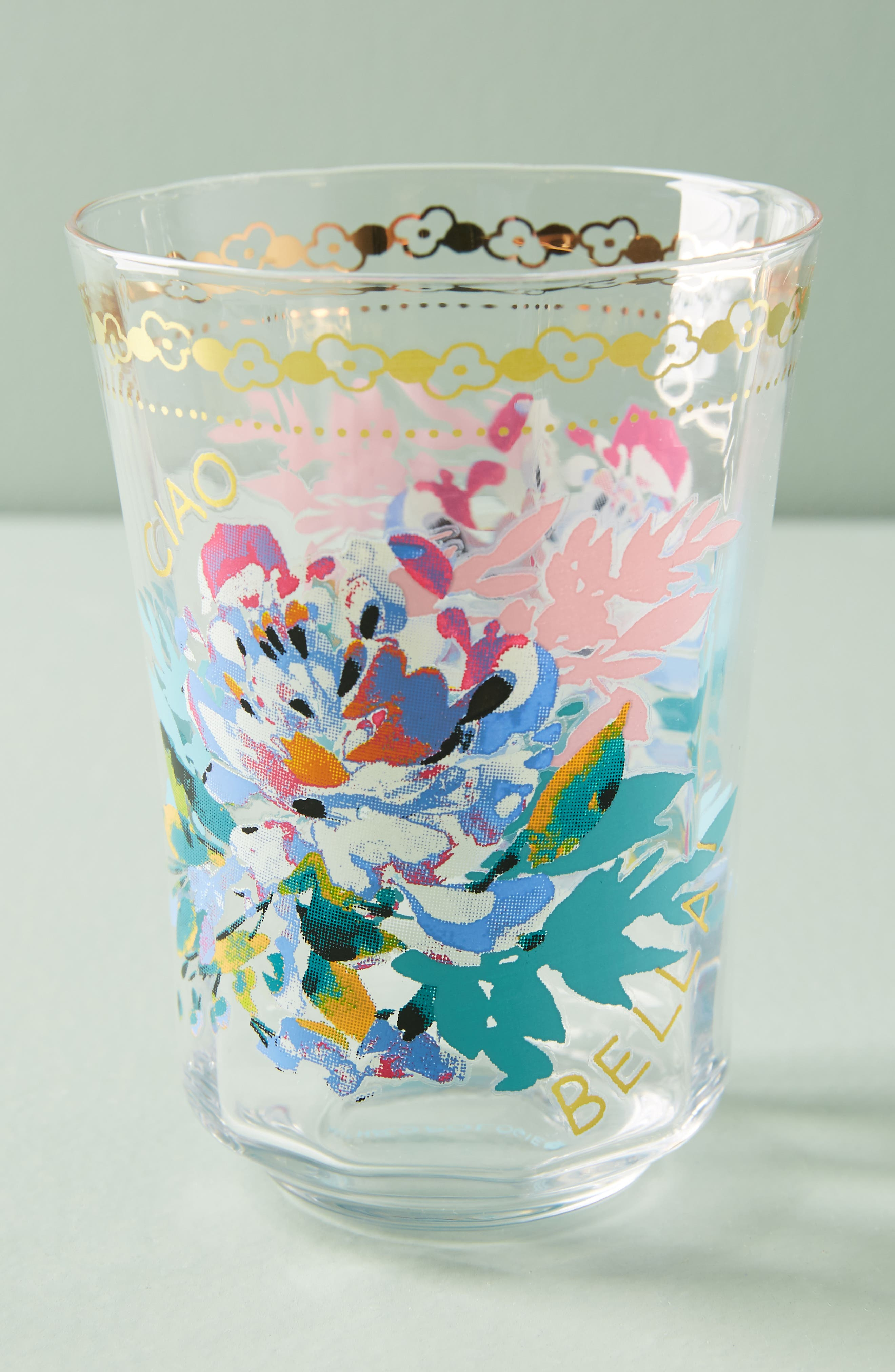Gilded Journey Juice Glass,                             Main thumbnail 1, color,                             Ciao Bella