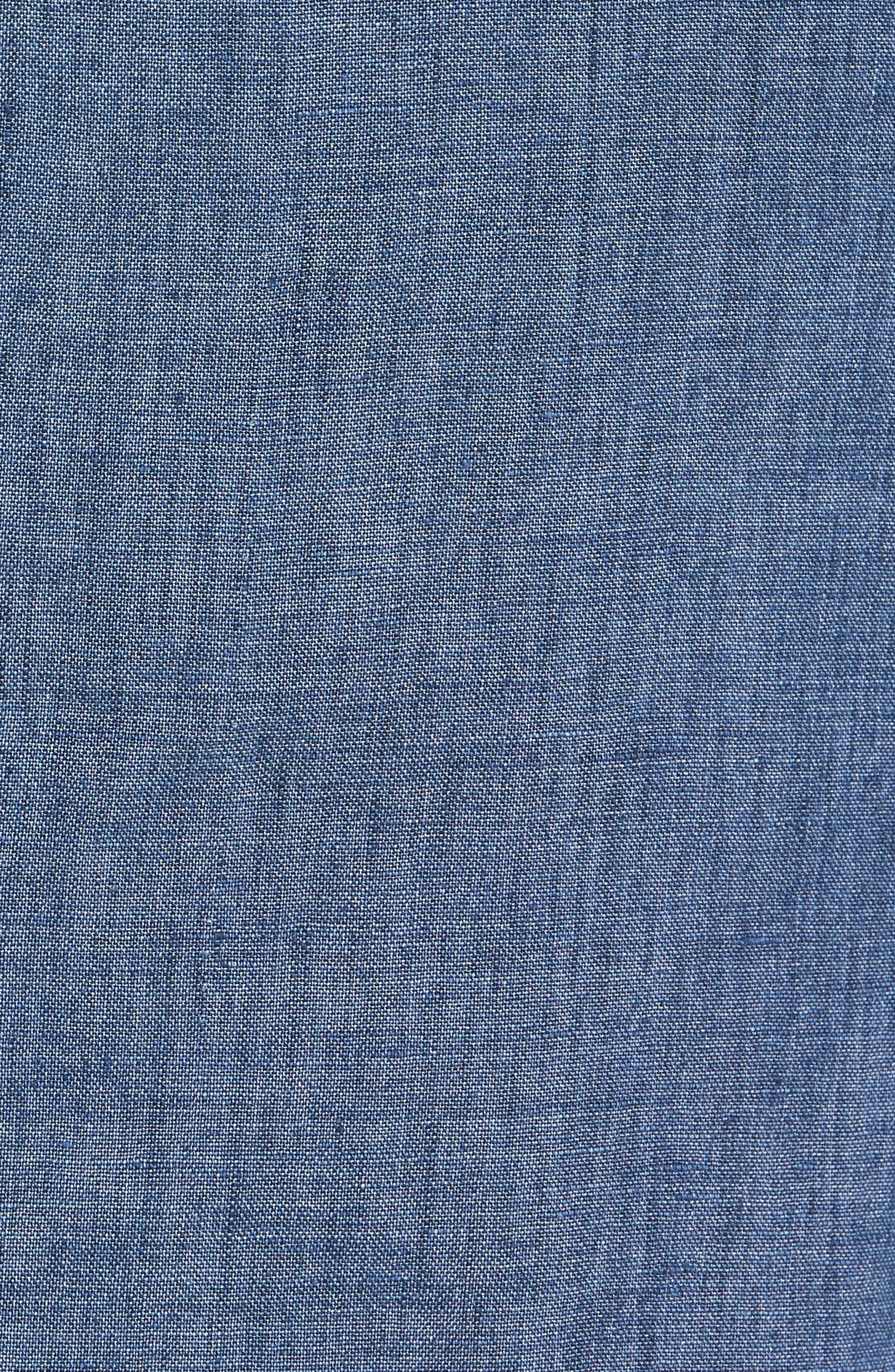 Trim Fit Linen Blazer,                             Alternate thumbnail 5, color,                             Blue Denim