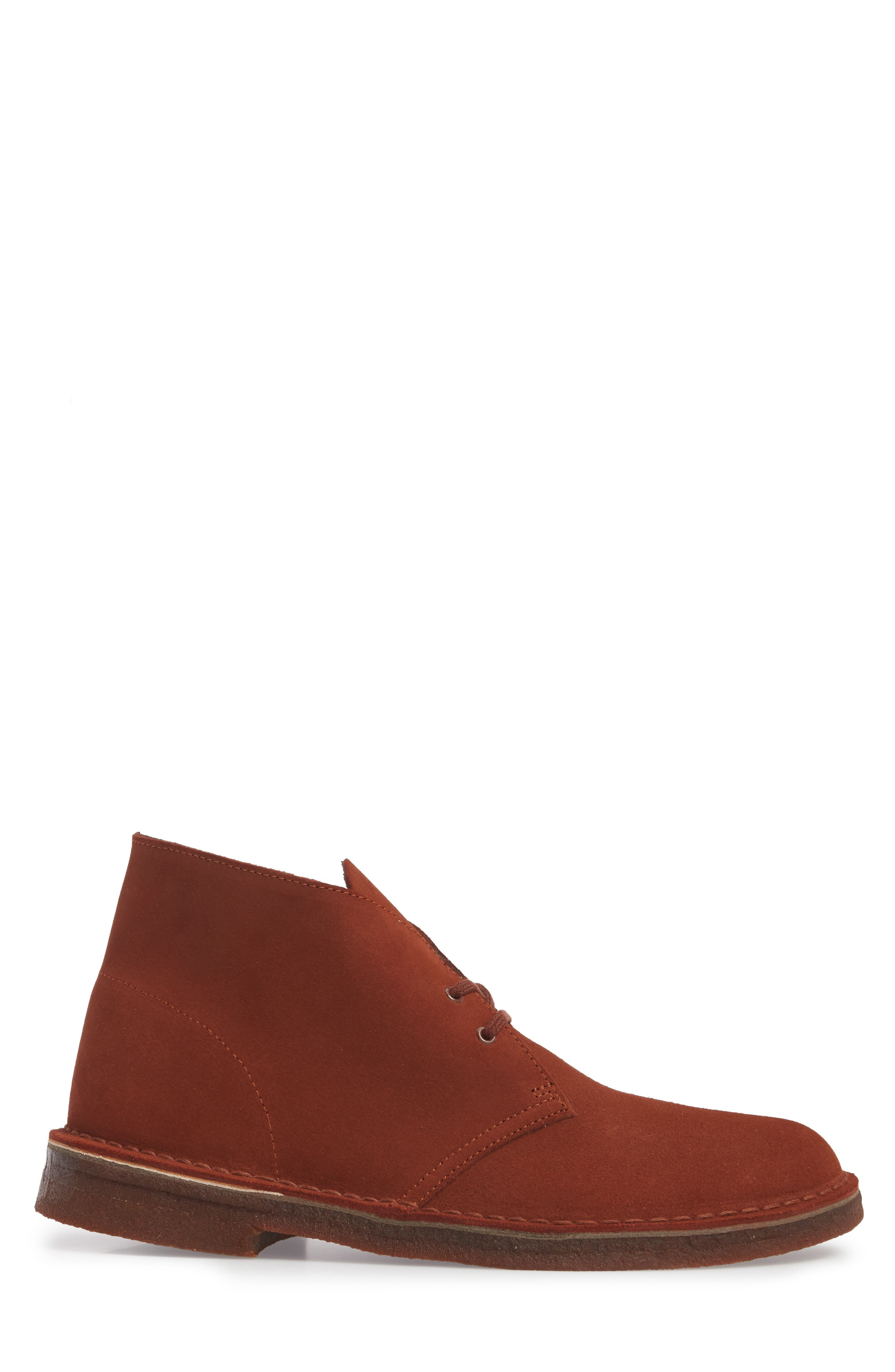 Clarks<sup>®</sup> Desert Boot,                             Alternate thumbnail 3, color,                             Mahogany Leather