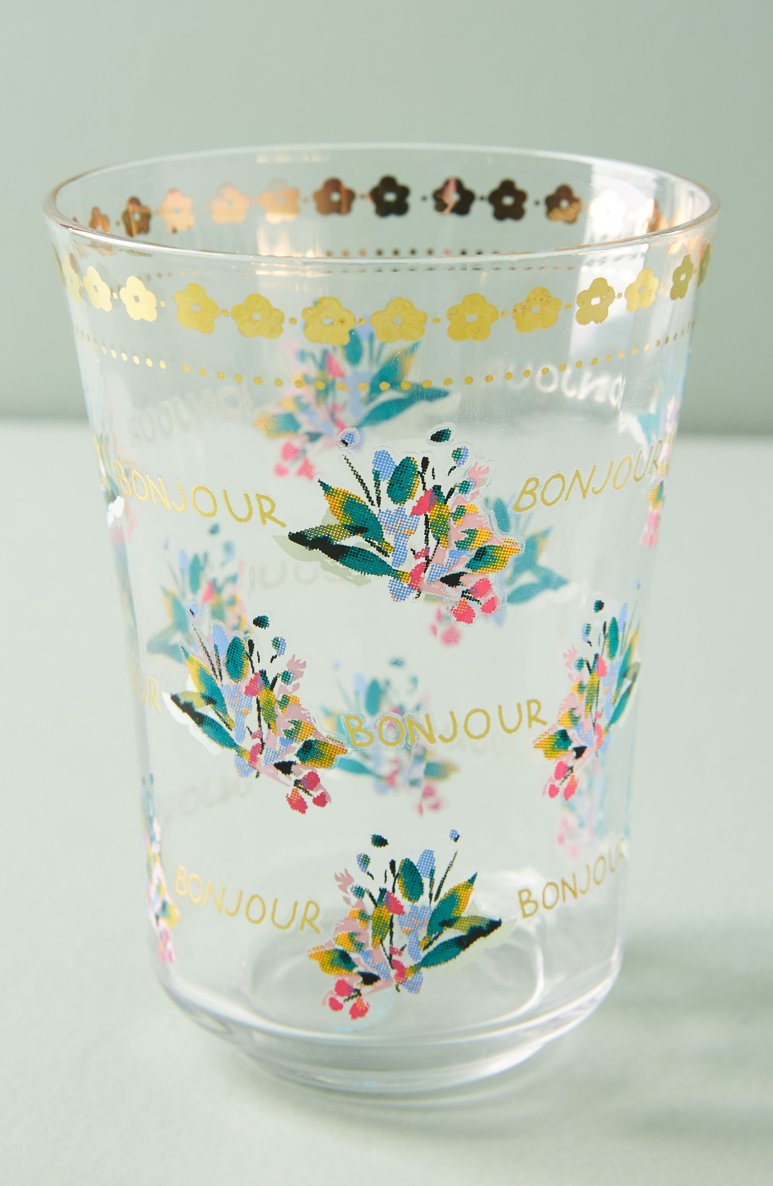 Anthropologie Gilded Journey Juice Glass