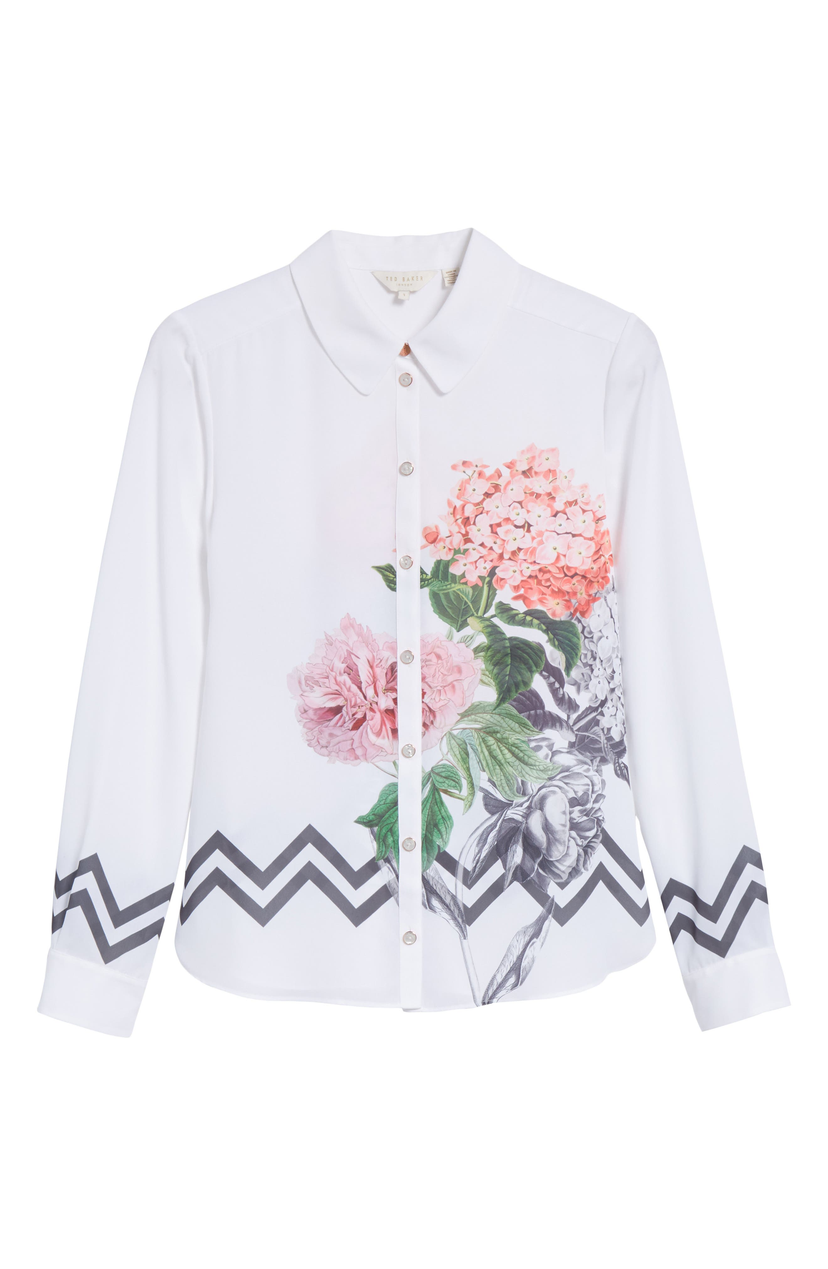 Palace Gardens Shirt,                             Alternate thumbnail 6, color,                             White