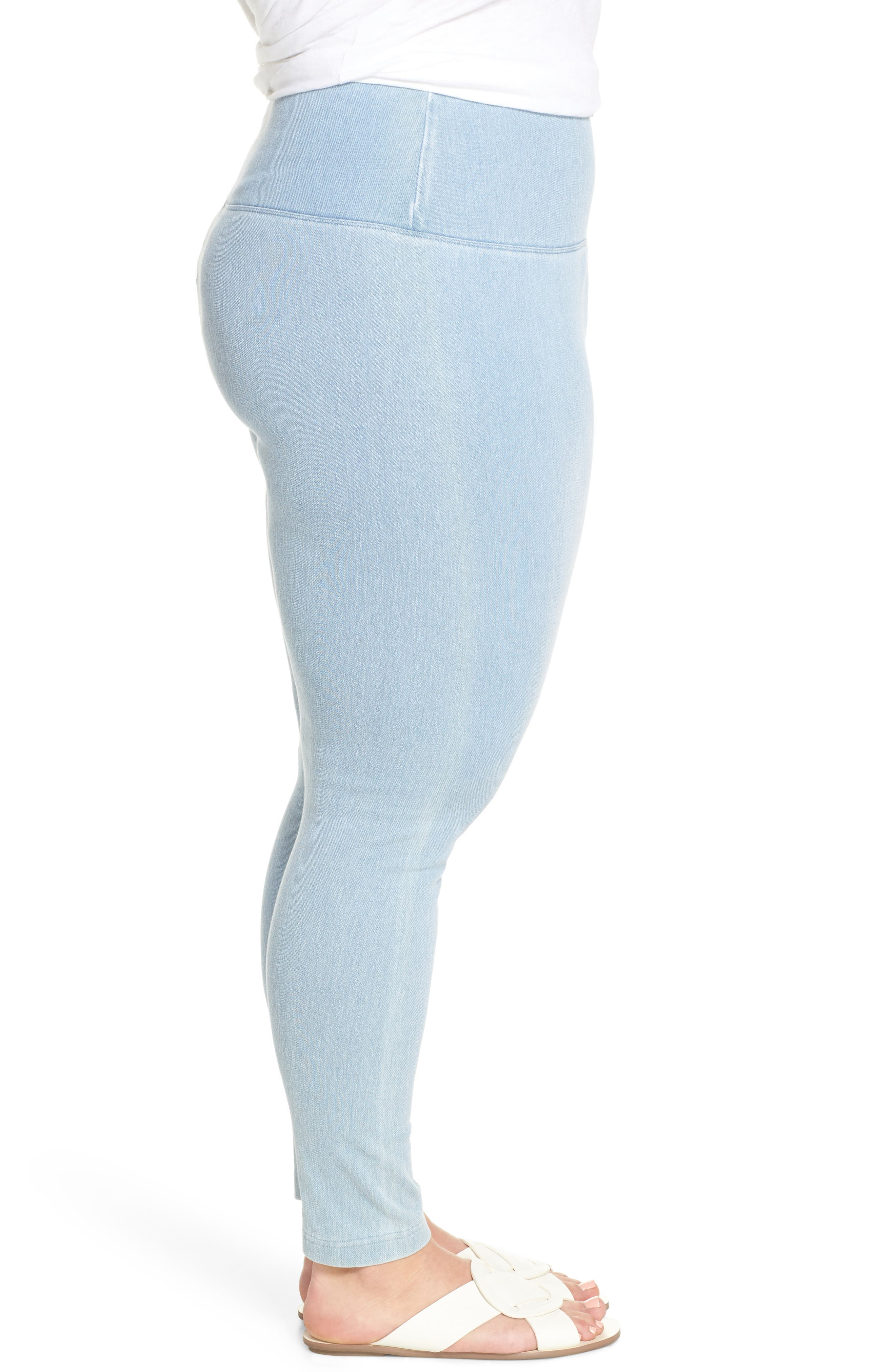 Stretch Denim Leggings,                             Alternate thumbnail 3, color,                             Cashmere Blue