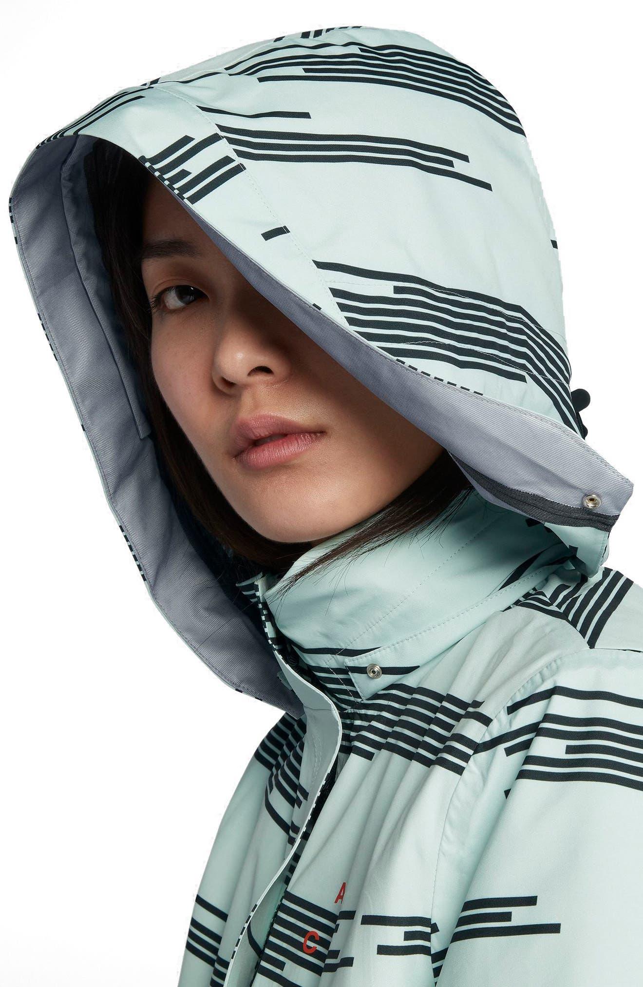 NikeLab ACG 3-in-1 System Women's Coat,                             Alternate thumbnail 5, color,                             Barely Green/ Black