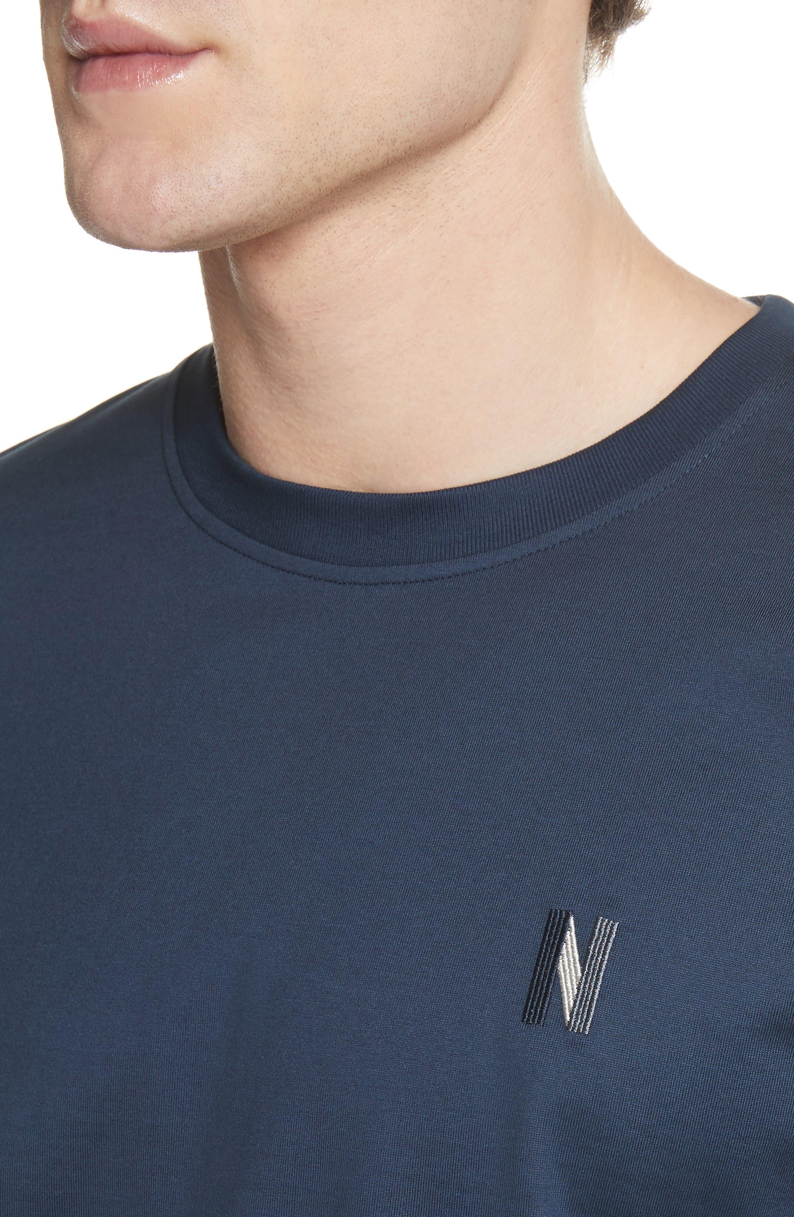 Niels N-Logo T-Shirt,                             Alternate thumbnail 4, color,                             Dark Navy