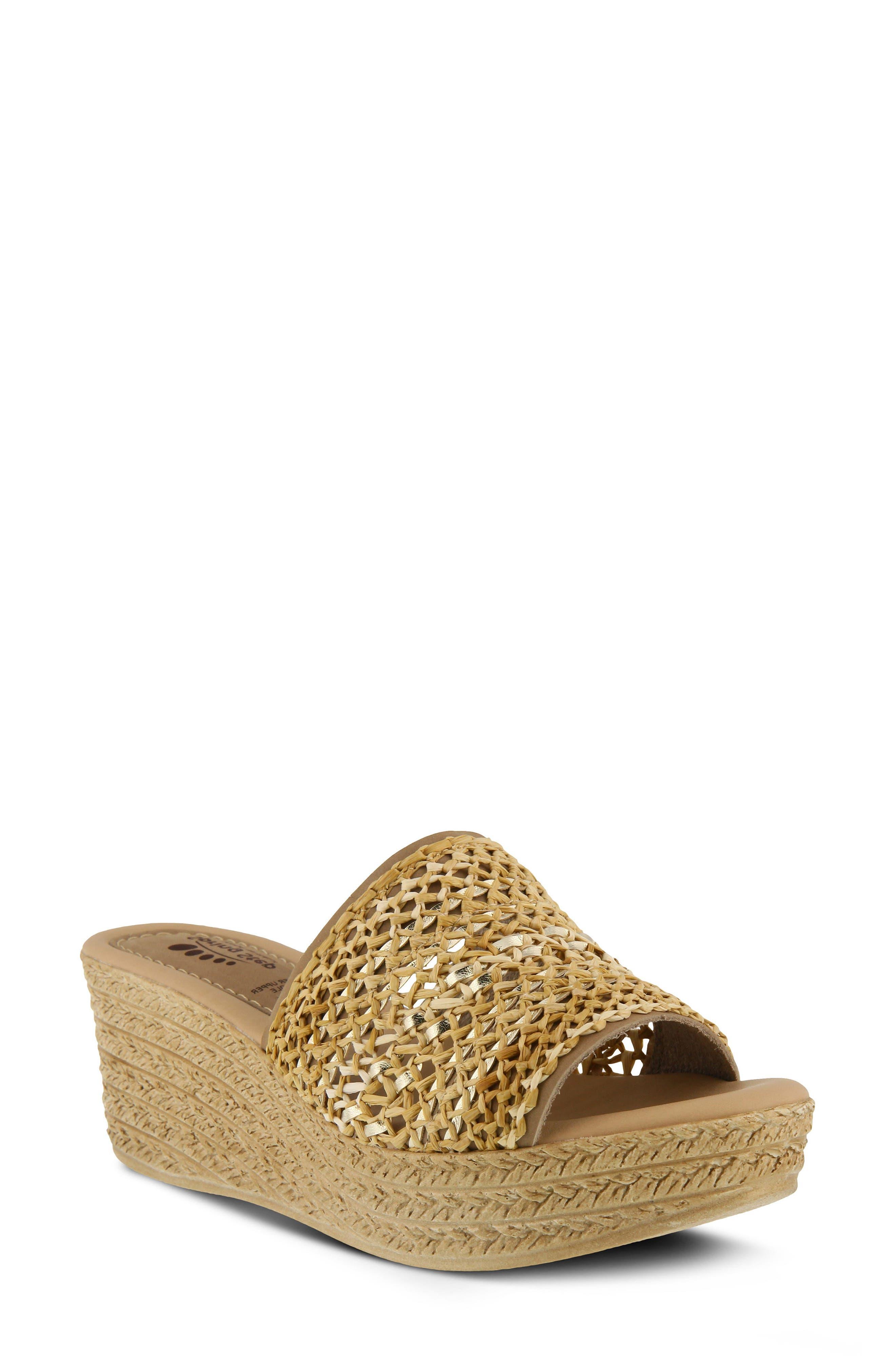 Spring Step Calci Espadrille Wedge Sandal (Women)