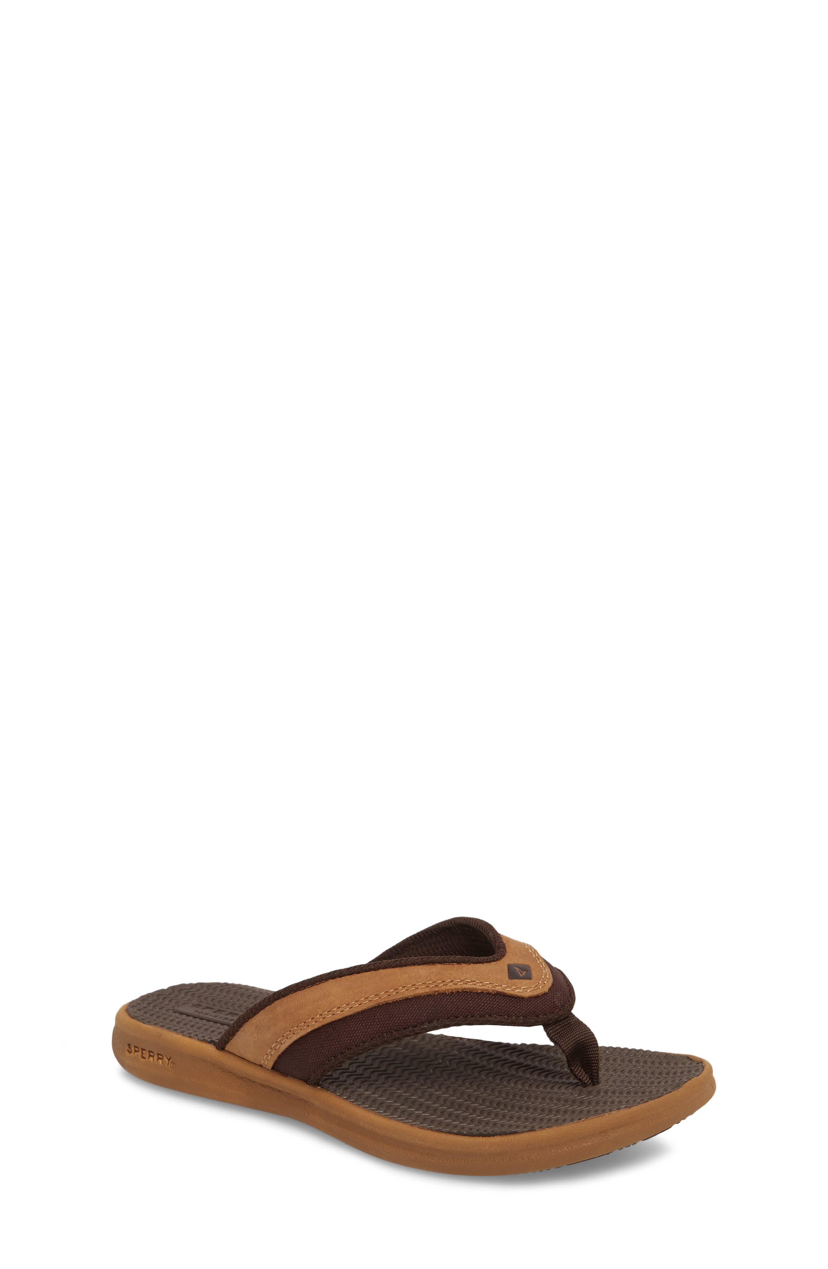 Gamefish Thong Sandal,                         Main,                         color, Dark Tan