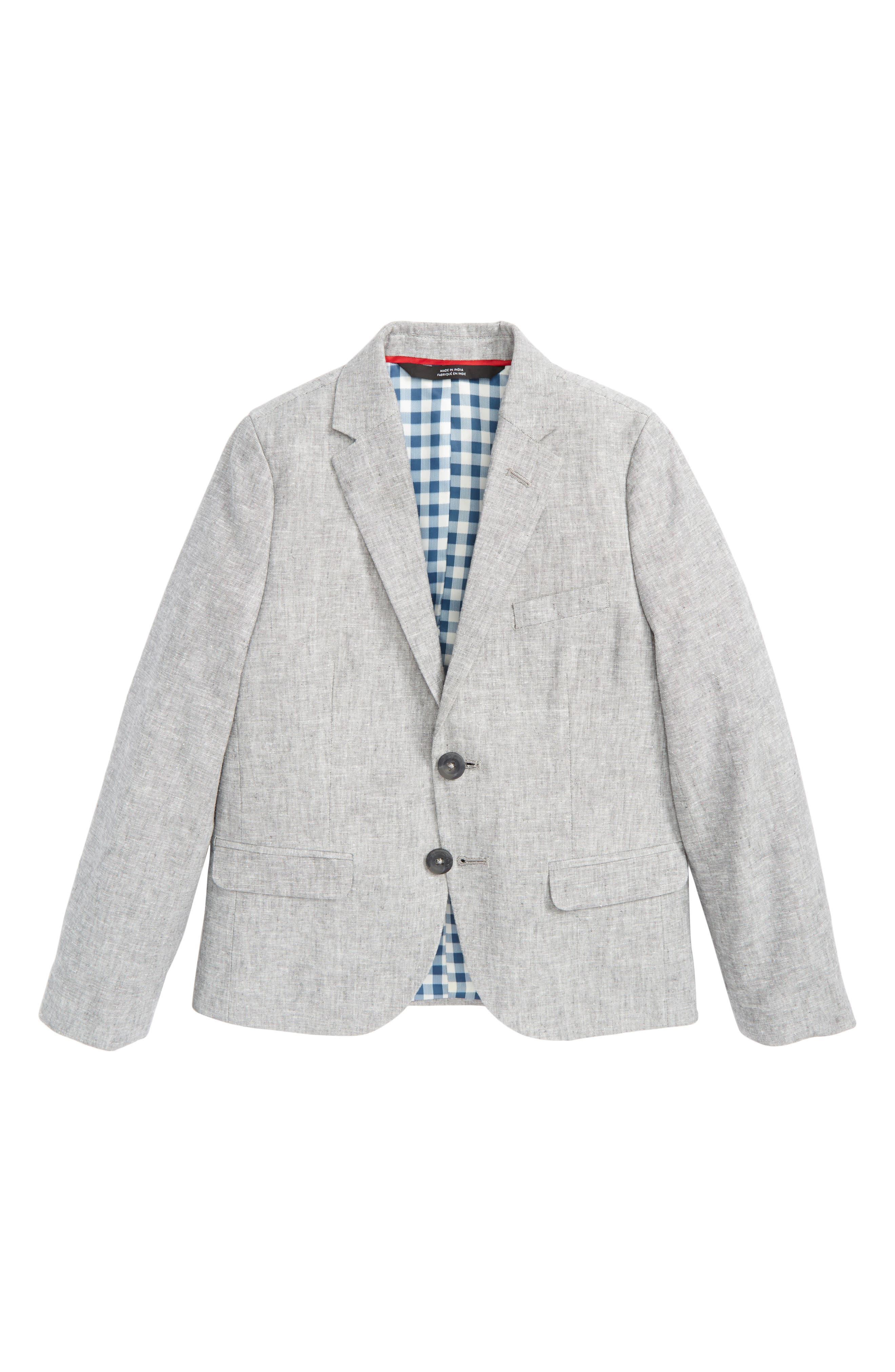Elliott Linen & Cotton Blazer,                         Main,                         color, Grey Linen