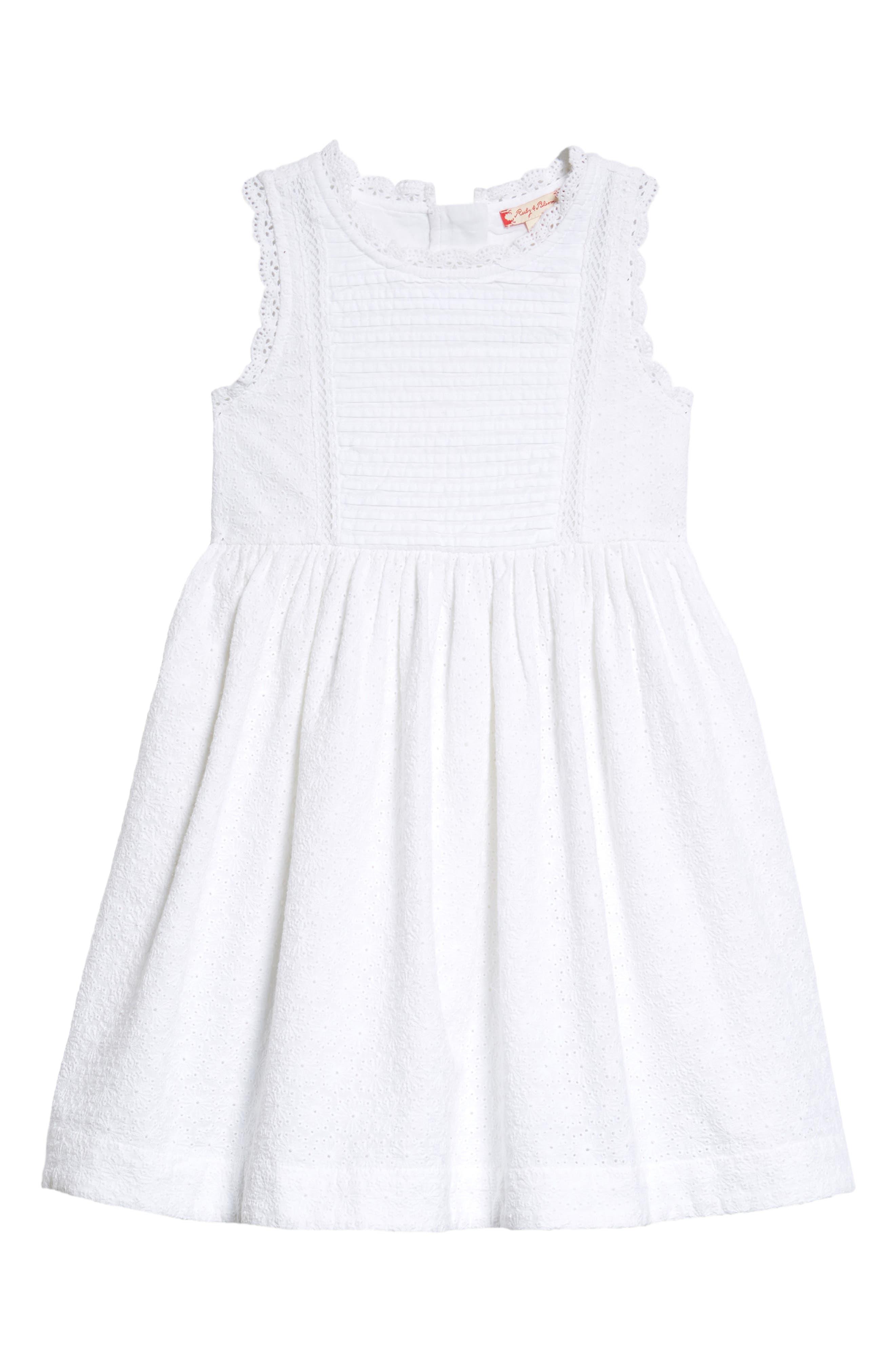 Lace Shift Dress,                             Main thumbnail 1, color,                             White