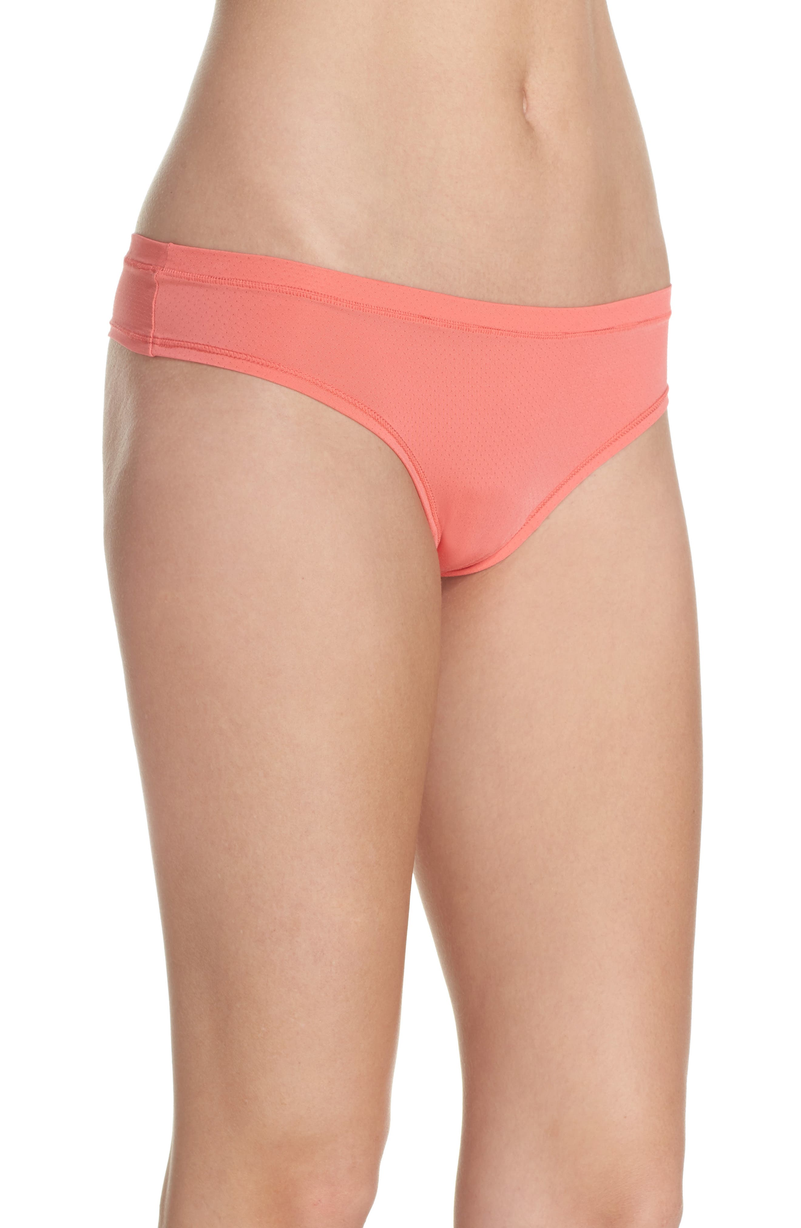 Alternate Image 3  - Zella Body Perforated Active Thong (3 for $33)