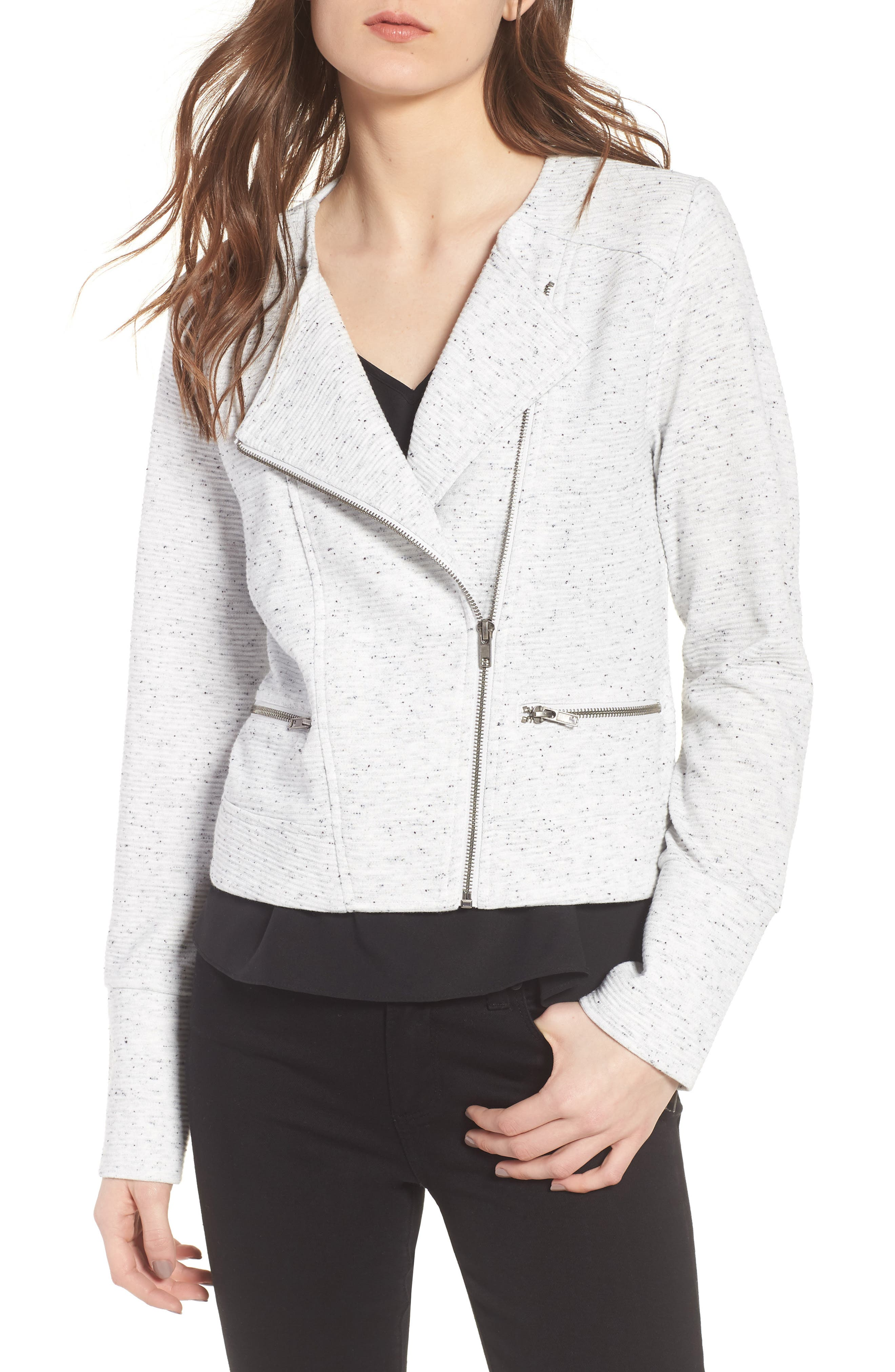 cupcakes and cashmere Algona Collarless Jacket