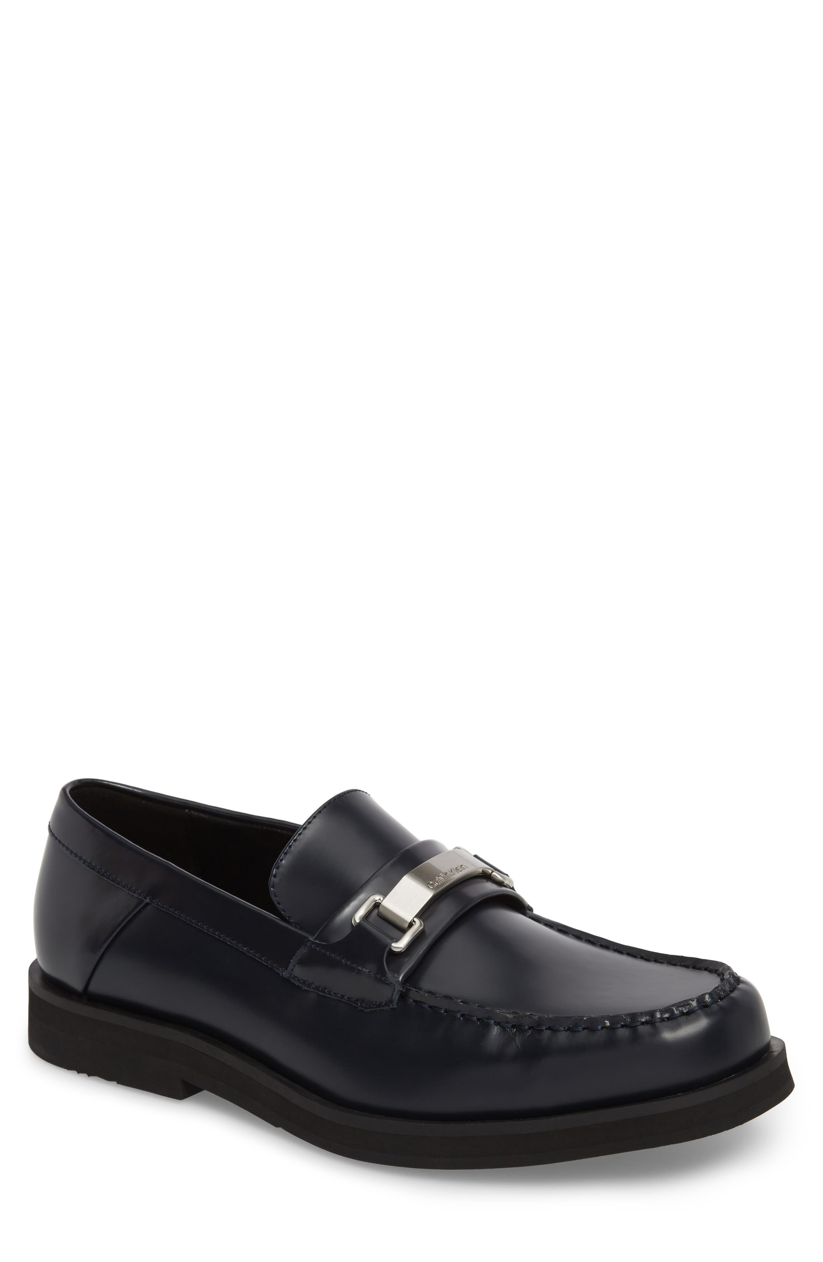 Lyric Box Bit Loafer,                         Main,                         color, Dark Navy Leather