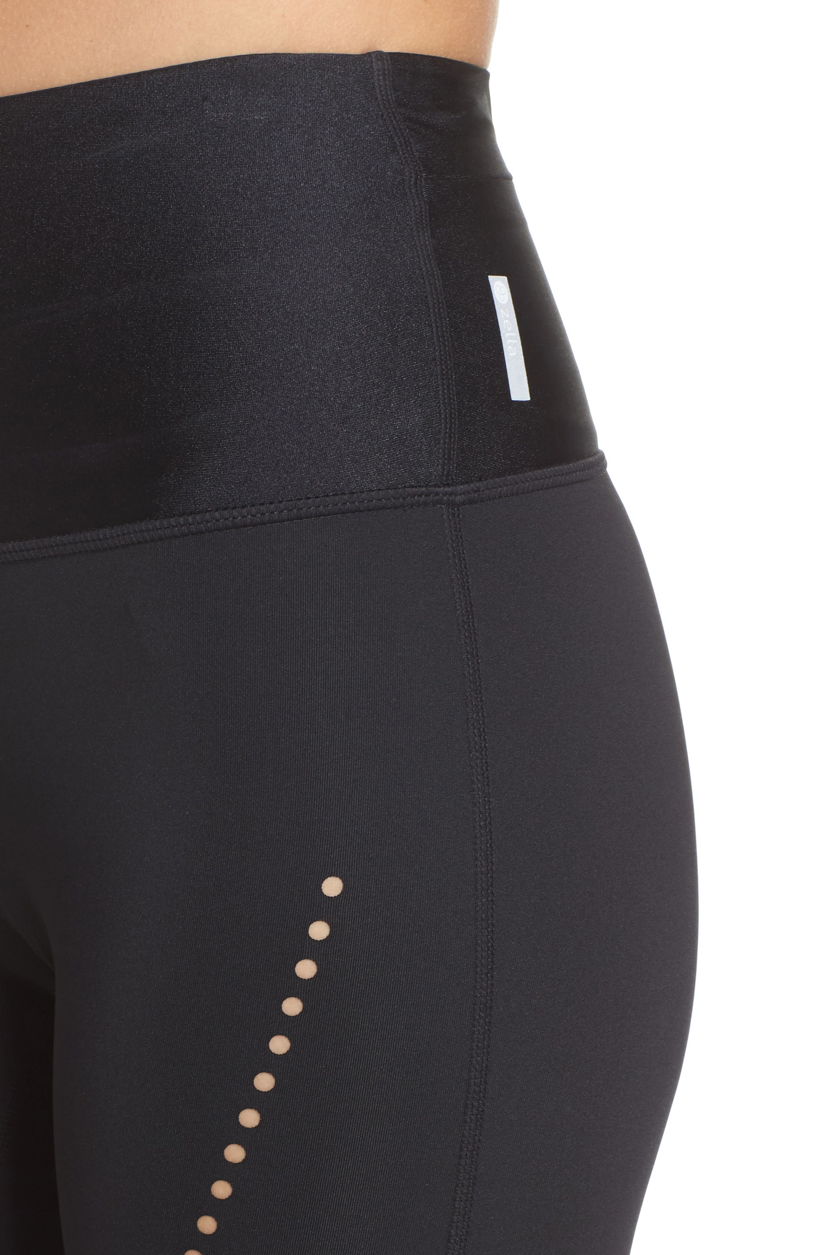 Starry Eyed High-Waist Crop Leggings,                             Alternate thumbnail 4, color,                             Black
